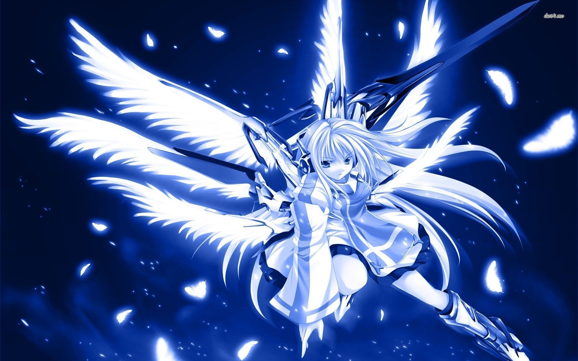 1920x1200 Blue warrior angel wallpaper - Anime wallpapers - #19305