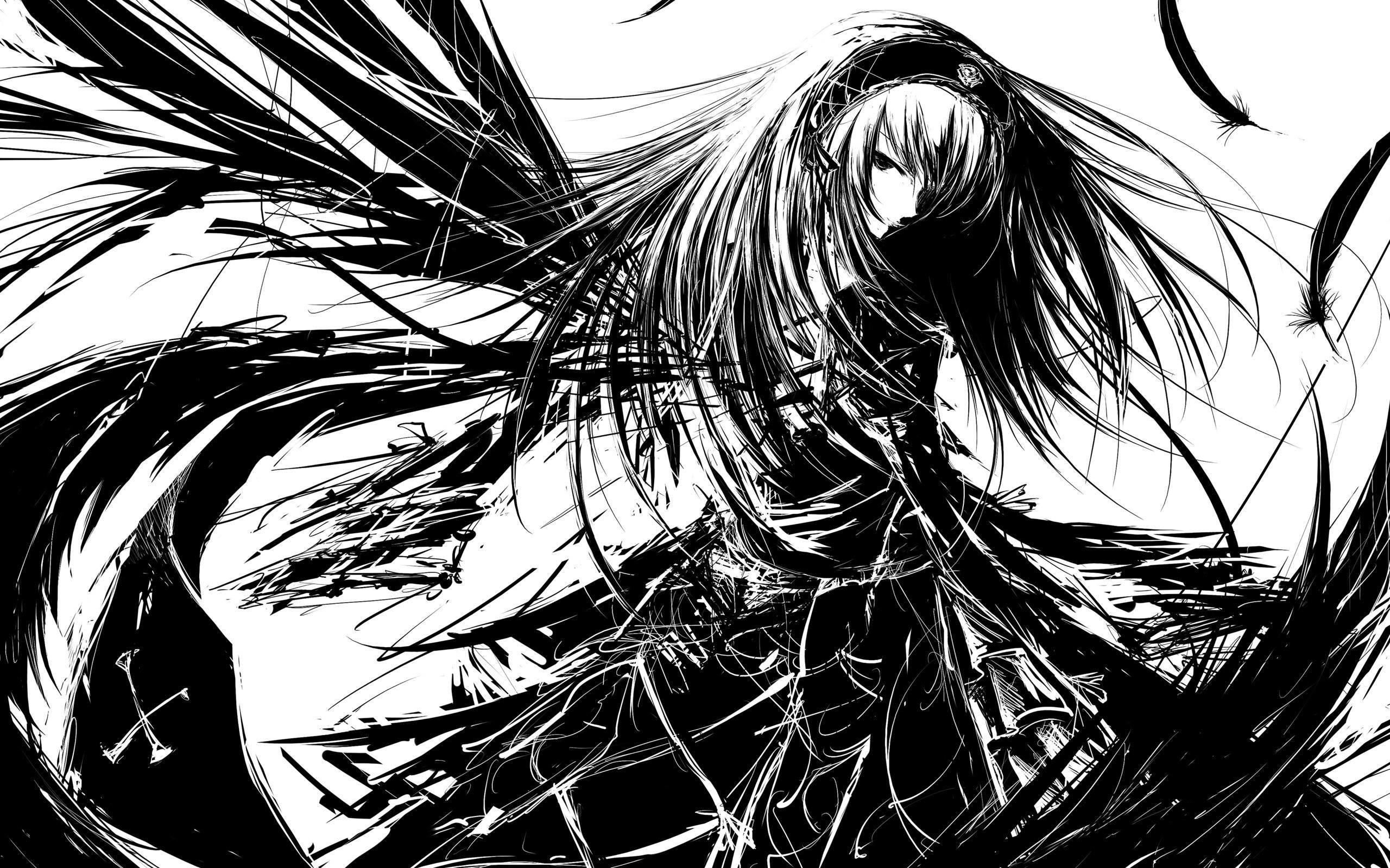 1920x1200 Anime Angel Girl Wallpaper