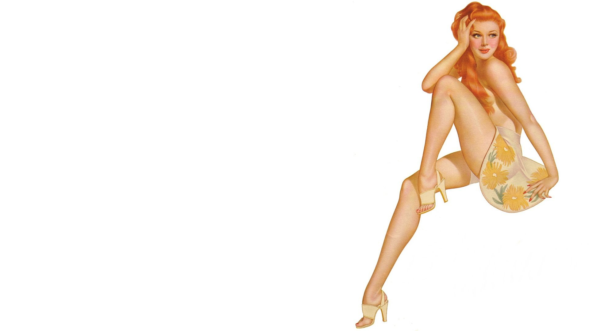 Pose pin up shoes girl wallpaper x