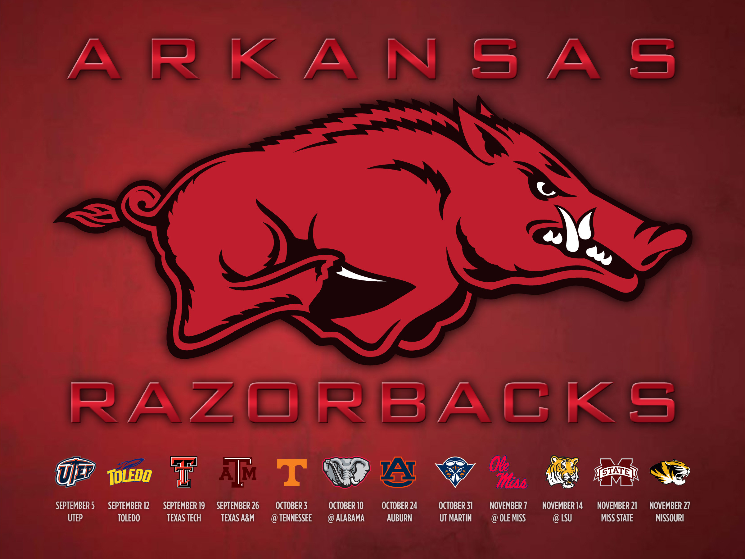 2400x1800 Razorback Football Schedule 2015 Wallpaper