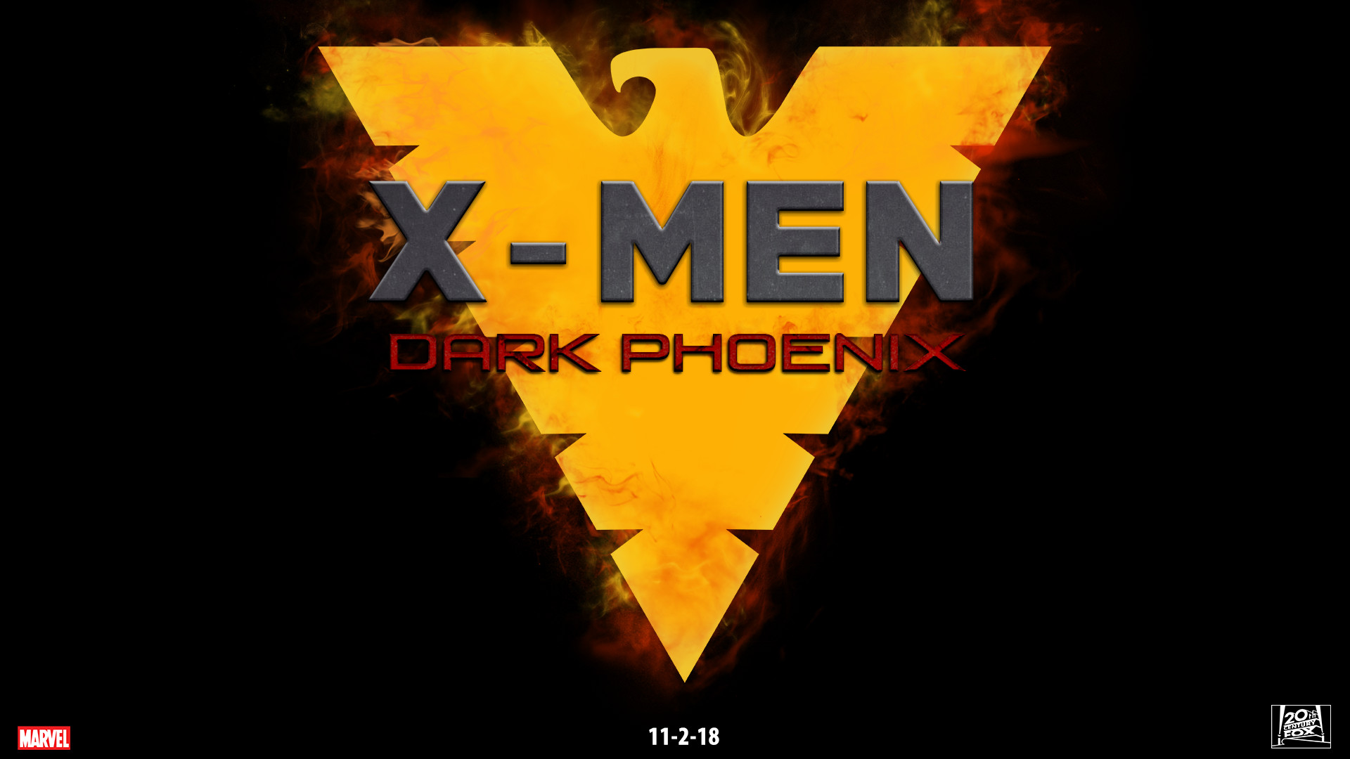 1920x1080 ... X-Men Dark Phoenix fanmade movie poster by chronoxiong