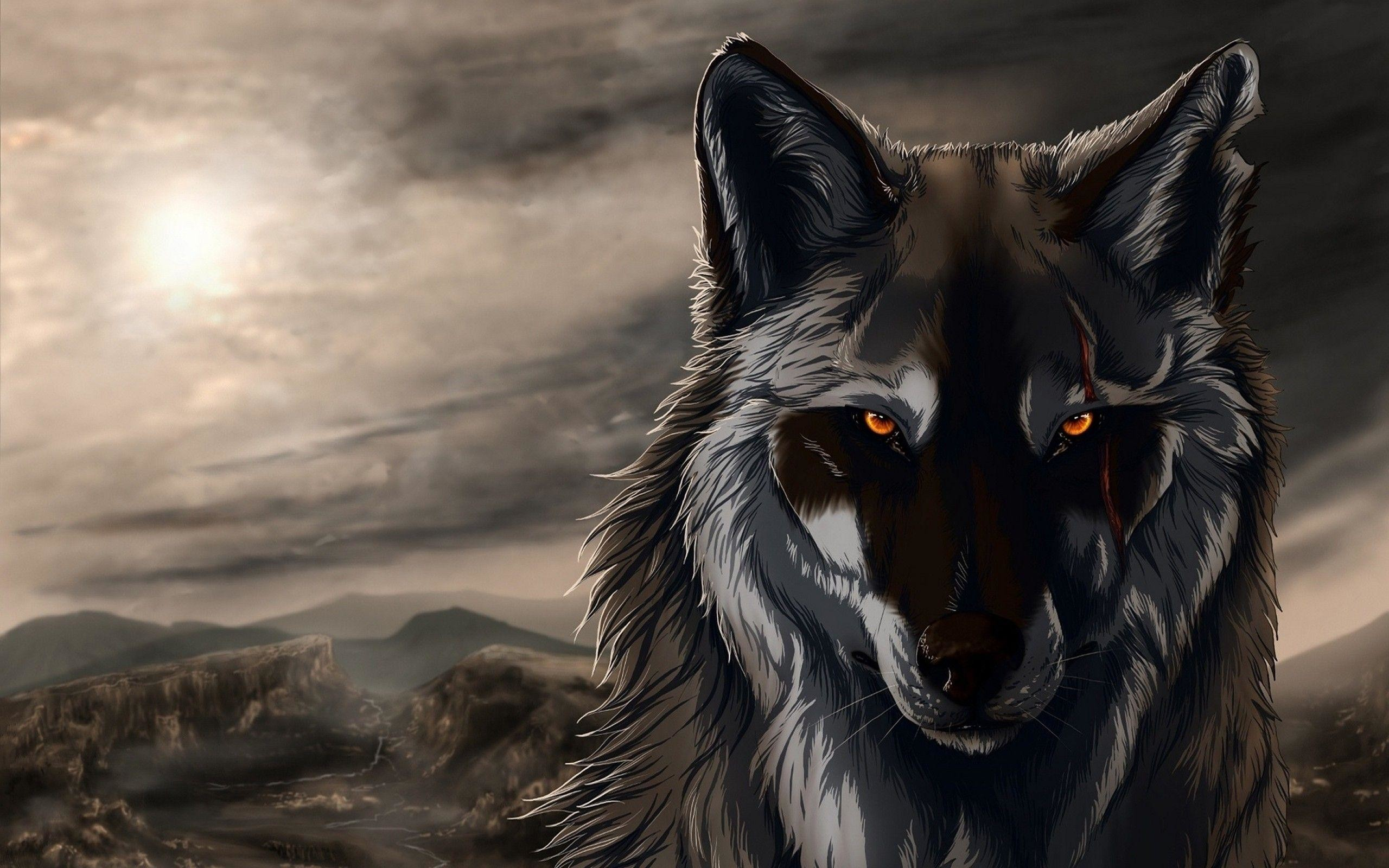 2560x1600 Wallpapers For > Cool Wolf Wallpaper Hd