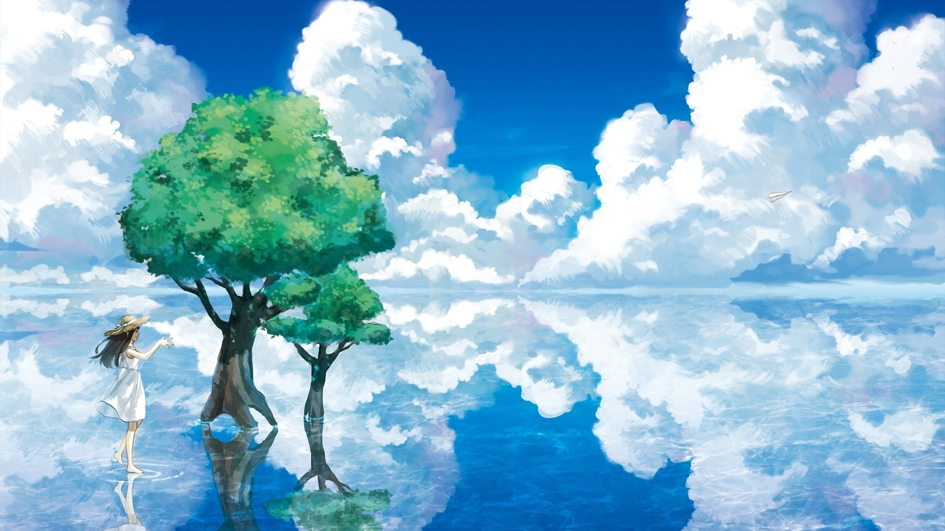 1920x1080 animation, Nature, Sky, Clouds, Water Wallpapers HD / Desktop and Mobile  Backgrounds