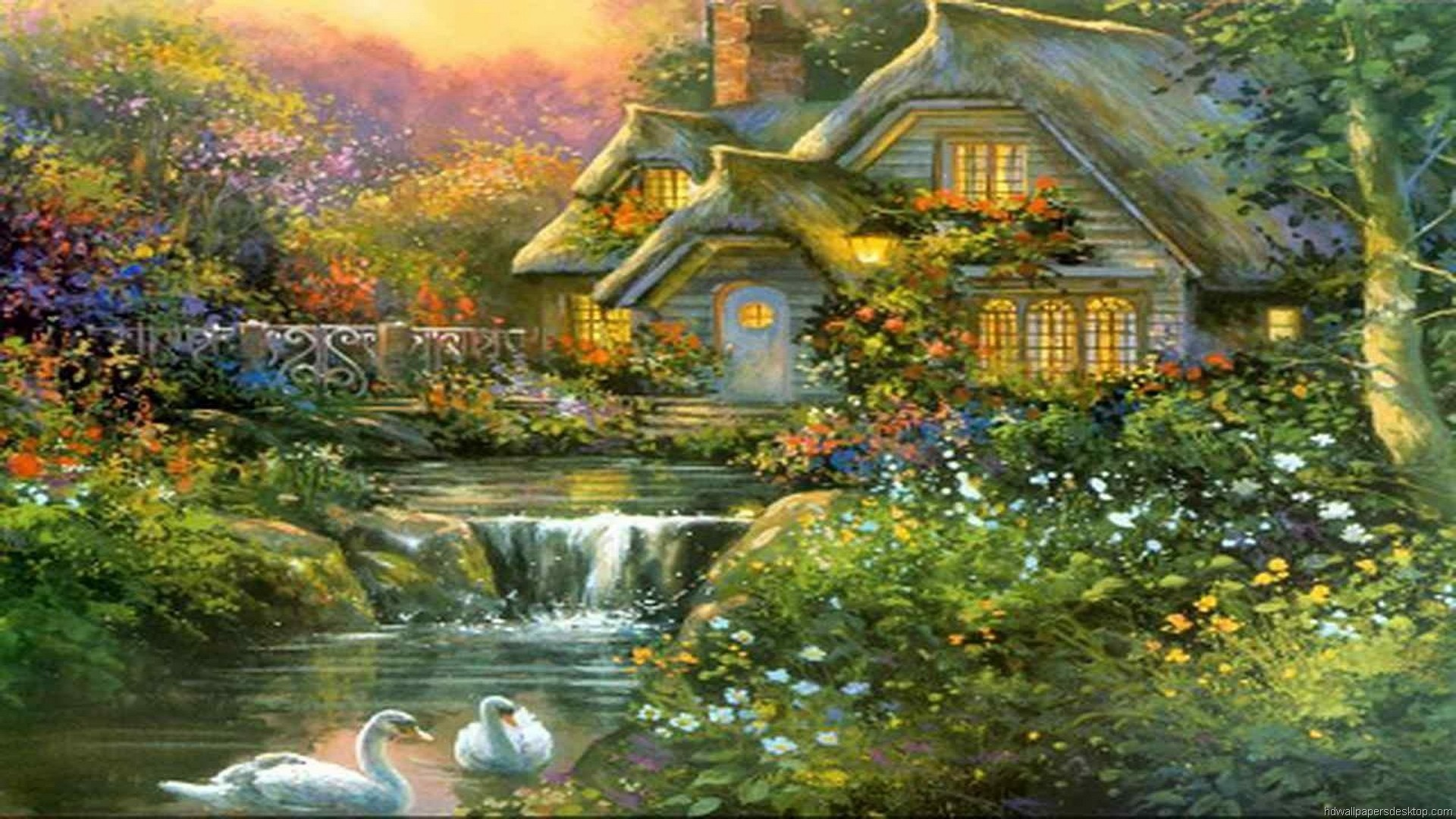 1920x1200 Thomas Kinkade Wallpaper 29, Art Wallpaper, Art Painting Wallpaper