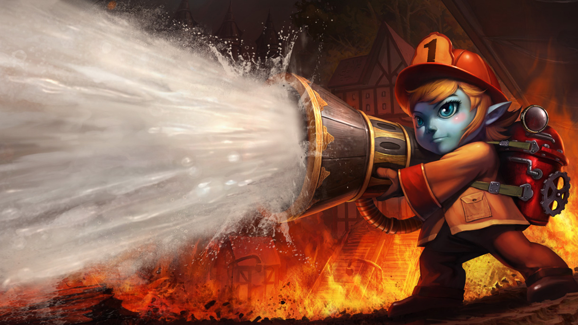 how to get free tristana firefighter skin