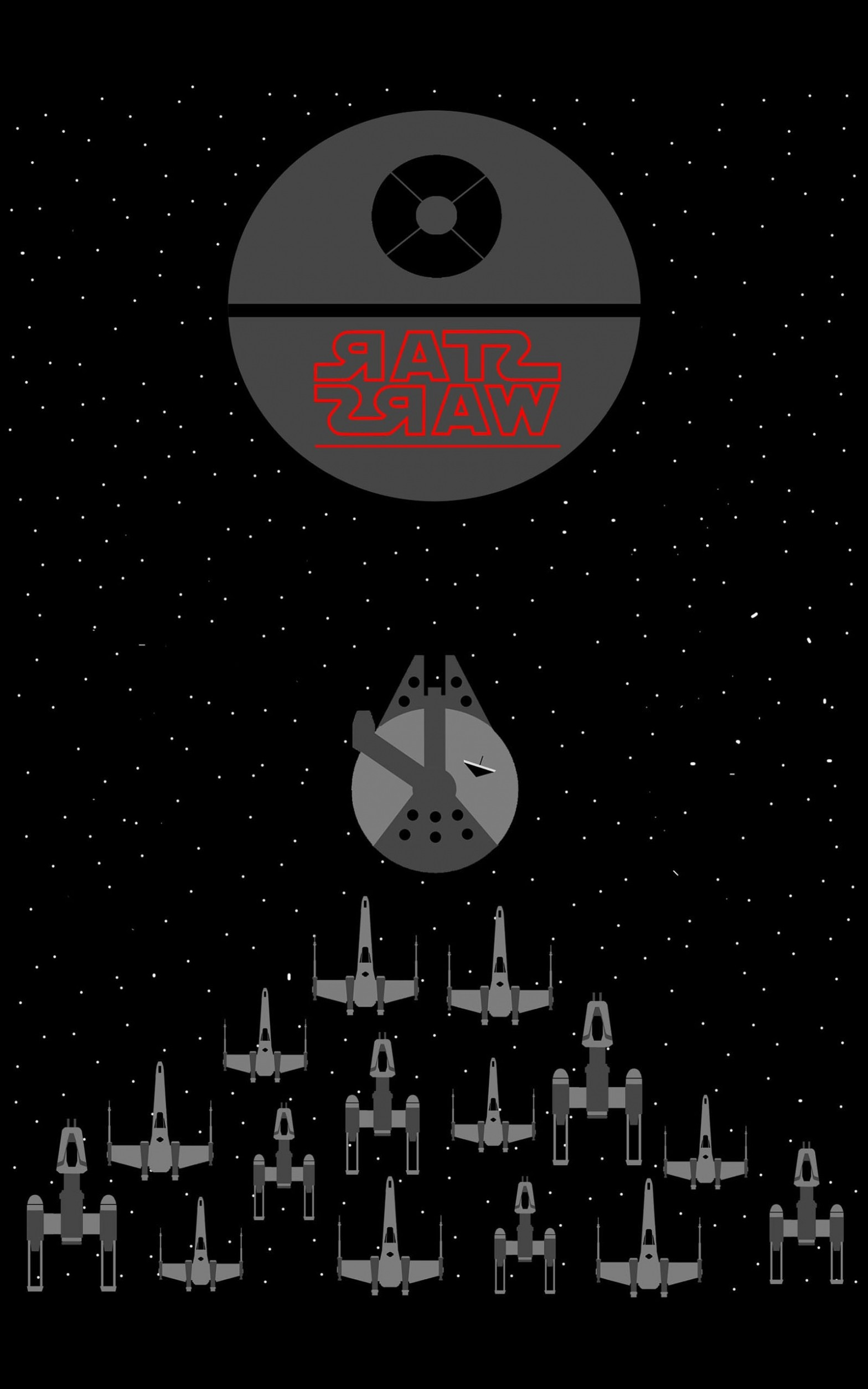 1568x2509 Star Wars, Millennium Falcon, X Wing, Y Wing, Death Star, Space