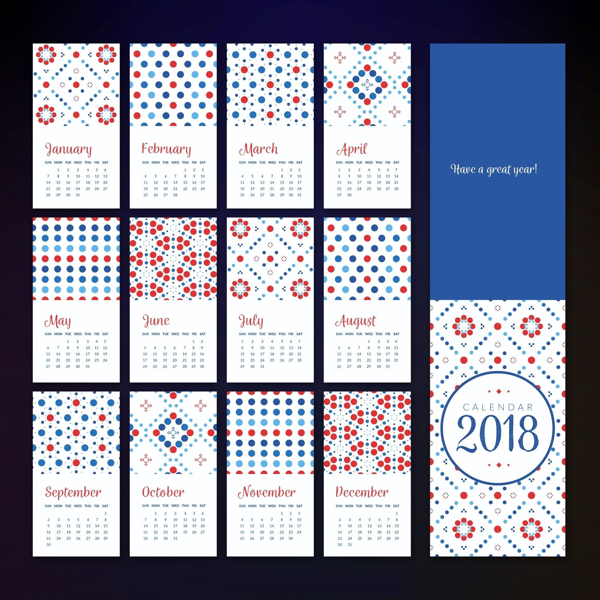 2018 Wallpaper Calendar 72 Images