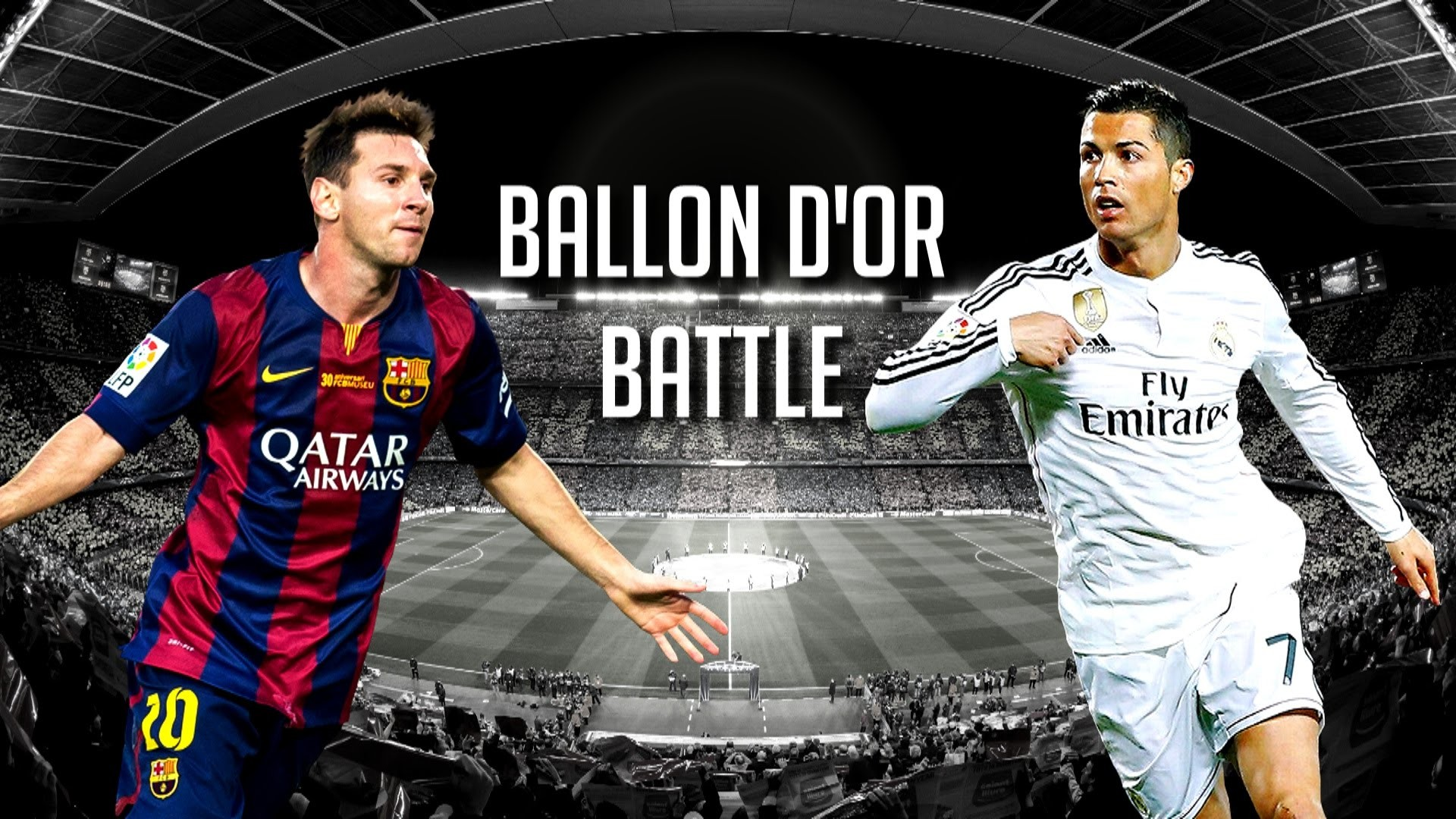 1920x1080 Cristiano Ronaldo vs Lionel Messi ○ Ballon D'Or Battle 2015 | 1080p HD