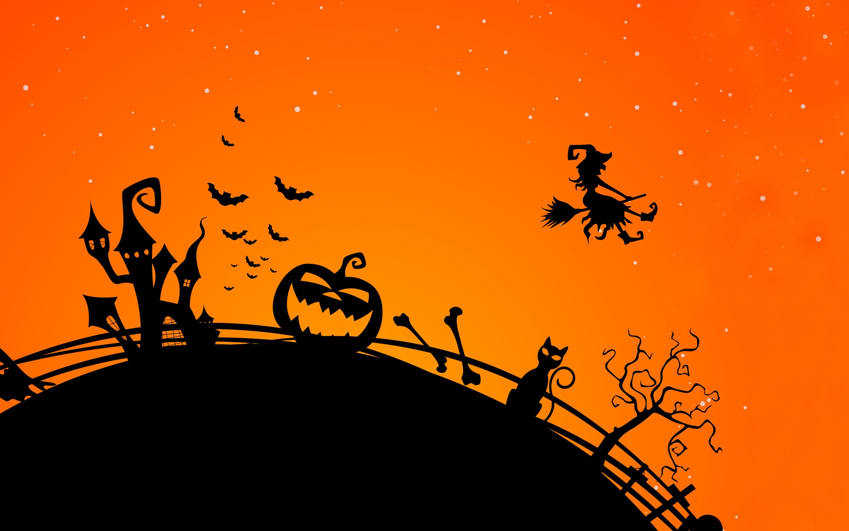 2880x1800 Halloween wallpaper HD desktop download.