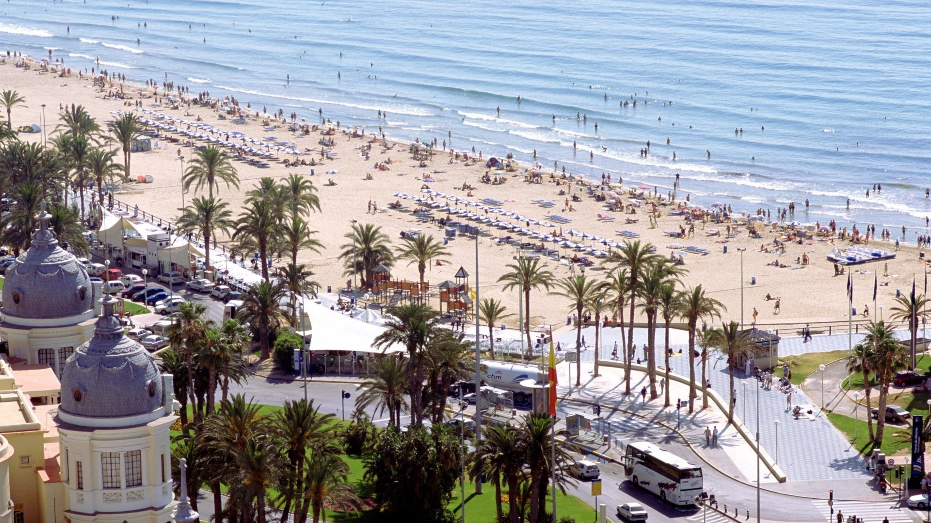 1920x1080 El Tag - Buildings Alicante Postiguet Beach El Palm 3d Nature Wallpaper For  Pc Desktop Free