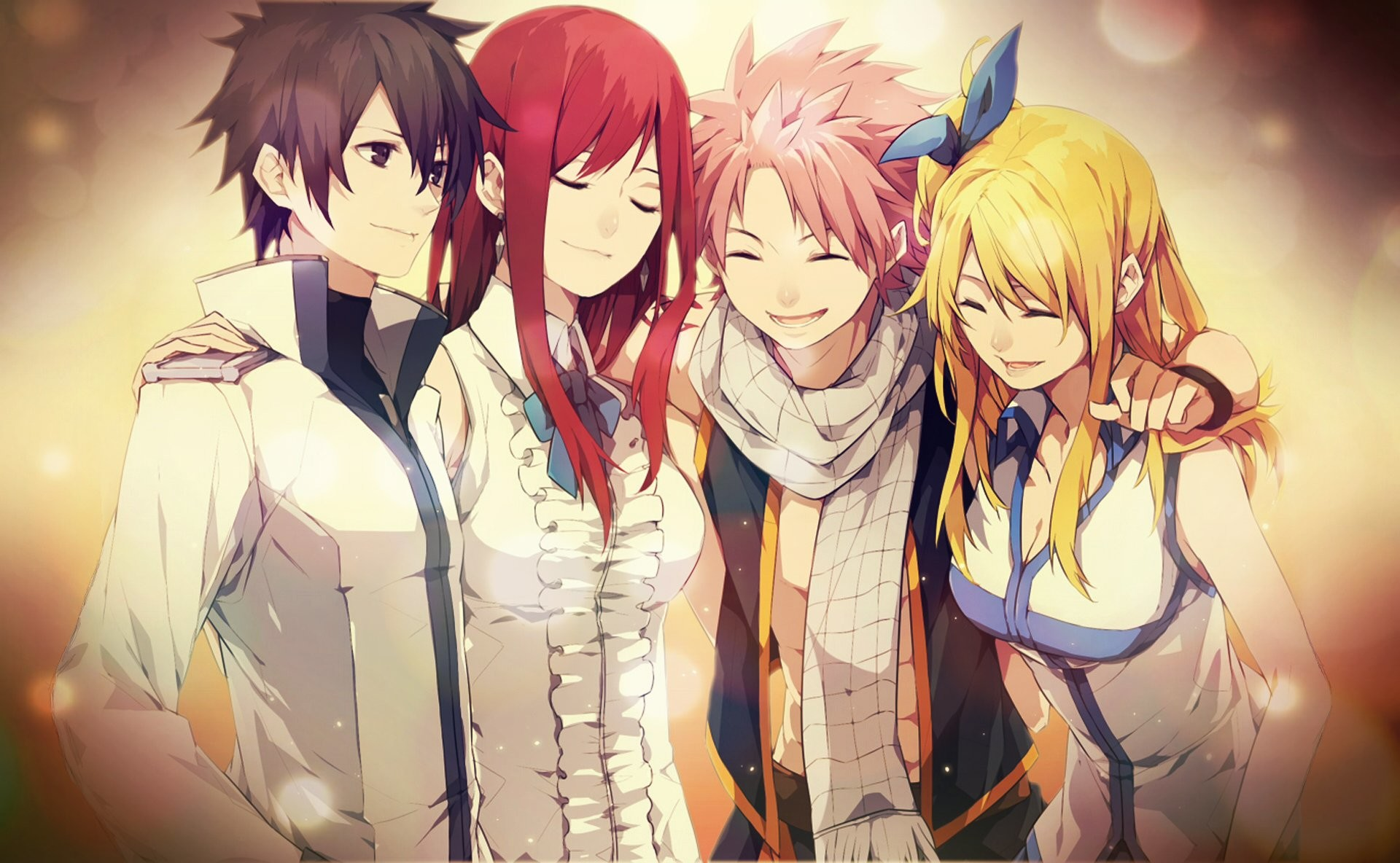1920x1184 Anime - Fairy Tail Lucy Heartfilia Natsu Dragneel Erza Scarlet Gray  Fullbuster Wallpaper