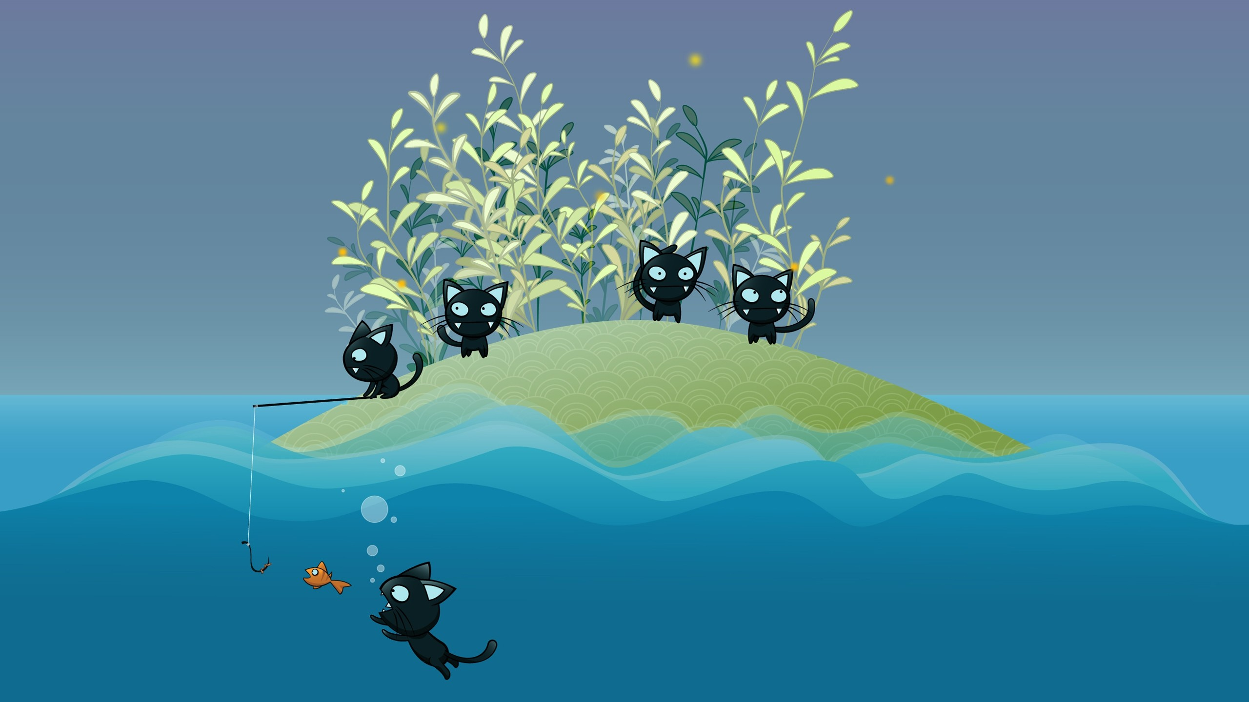 2560x1440 wallpaper.wiki-Cartoon-Cat-Image-HD-PIC-WPE0010020
