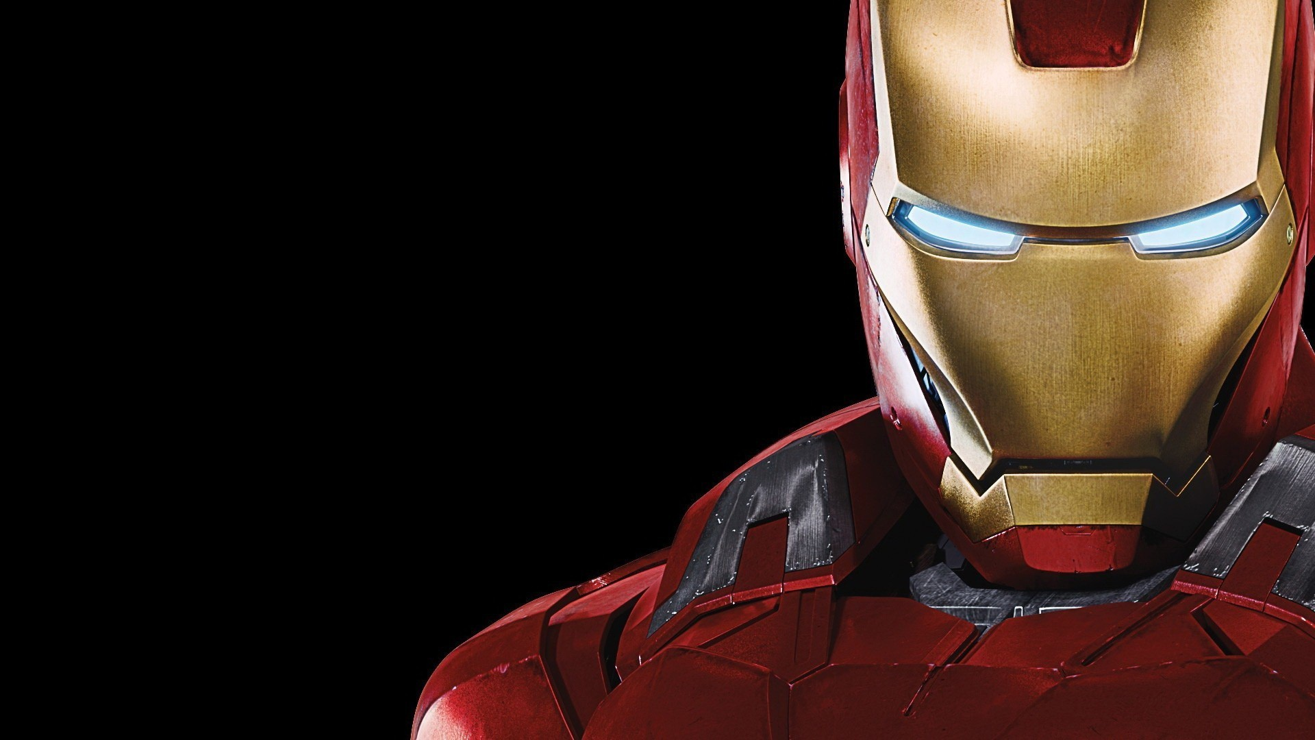 Res: 1920x1080,  Uniques Simple Minimalist High Quality Art Painted Red Colours Iron  Man Wallpaper Lines Beautifull Bodies Power Attackted