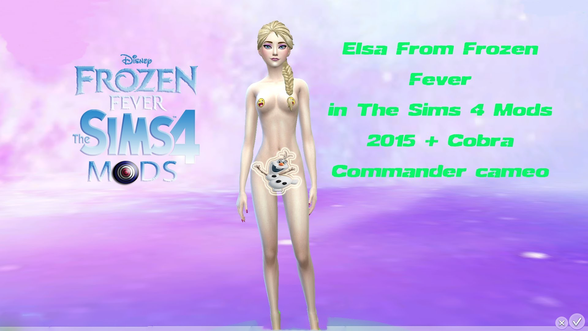 1920x1080 Elsa From Frozen Fever in The Sims 4 Mods 2015 + Cobra Commander cameo -  YouTube