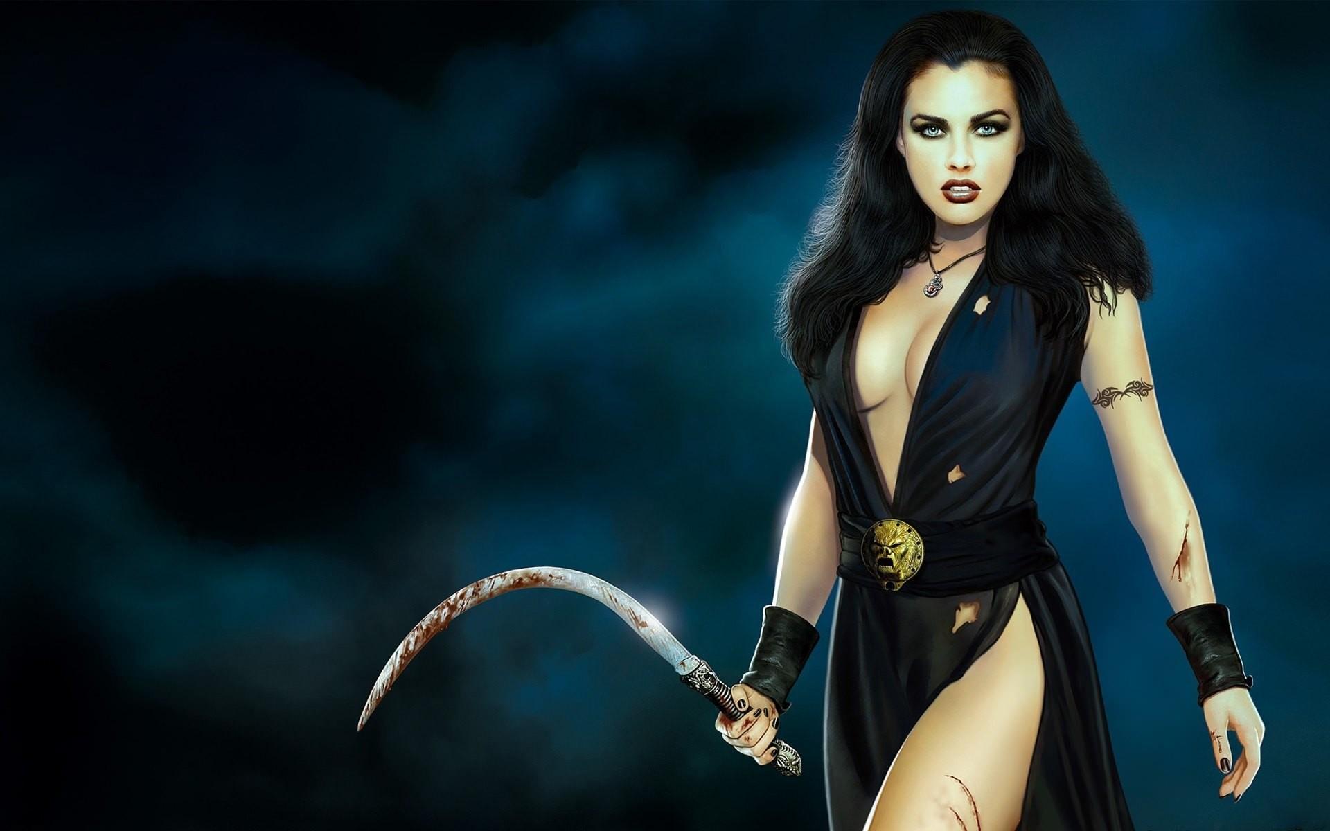 Fantasy Women Warrior Woman Wallpaper 197646