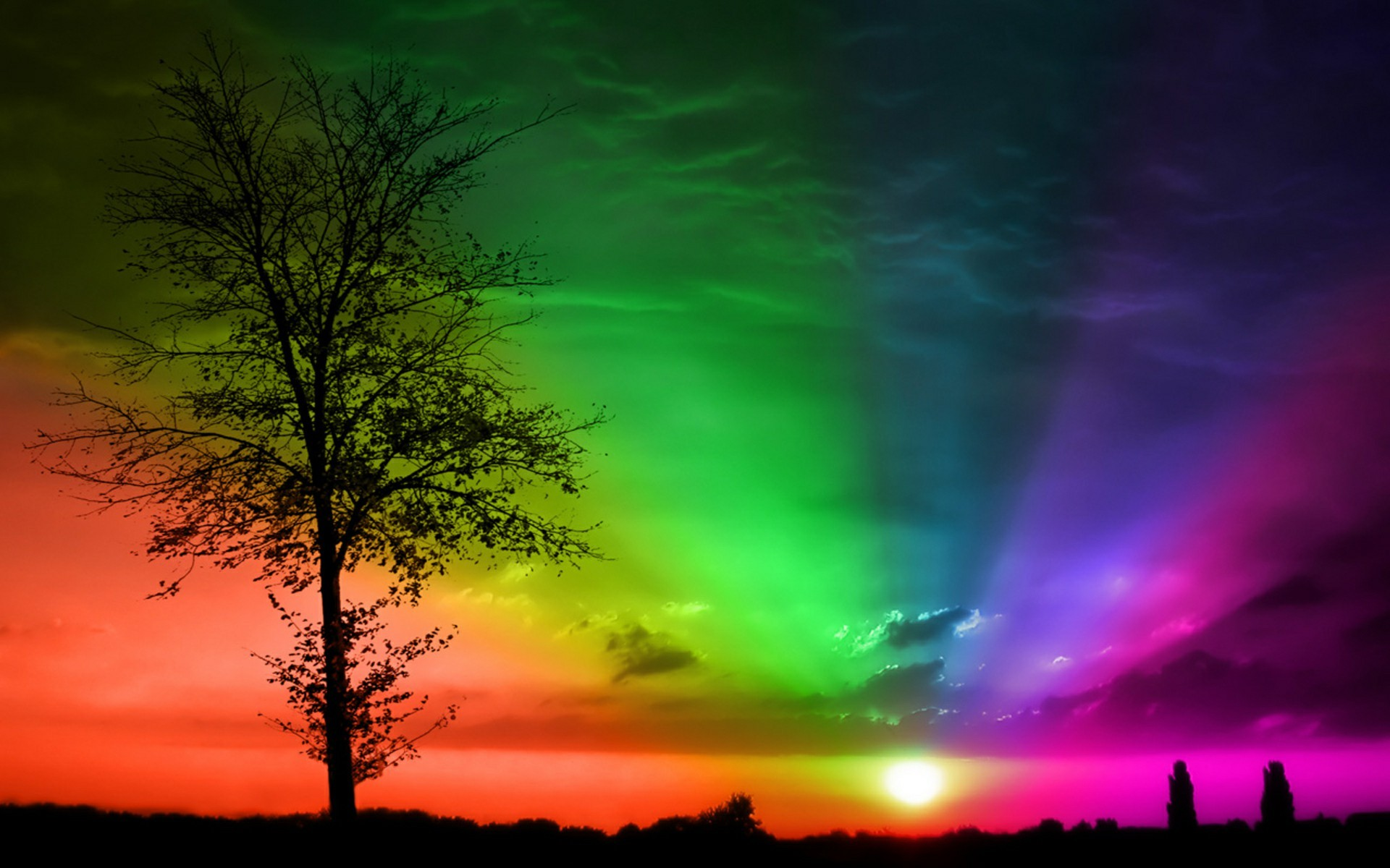 1920x1200 3d Rainbow Wallpaper Full HD #Daf