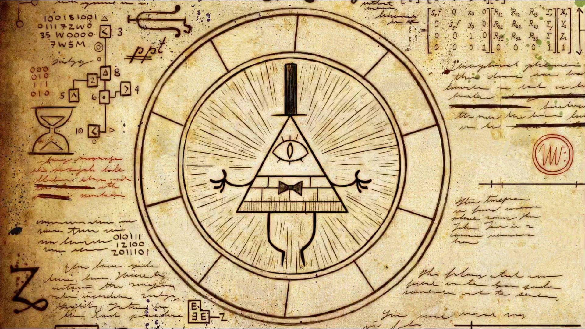 1920x1080 Gravity Falls Illuminati Disney Cartoon science wallpaper background .