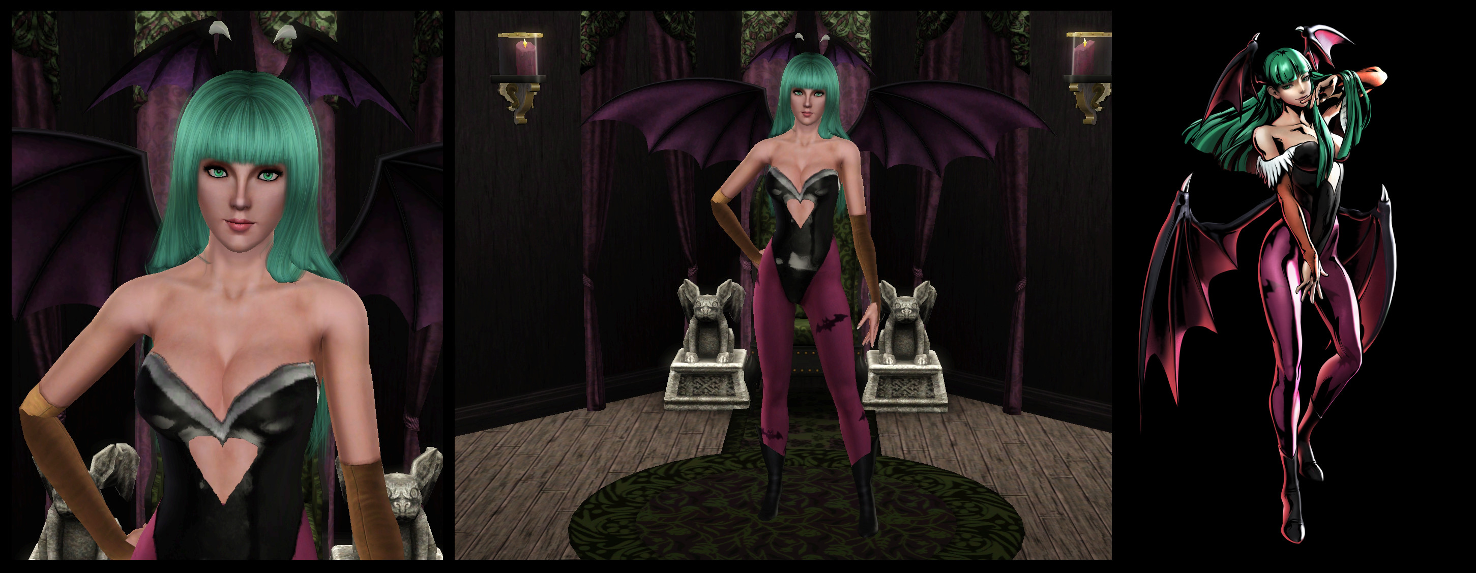 2902x1127 ... The Sims 3: Darkstalkers - Morrigan by Tx-Slade-xT