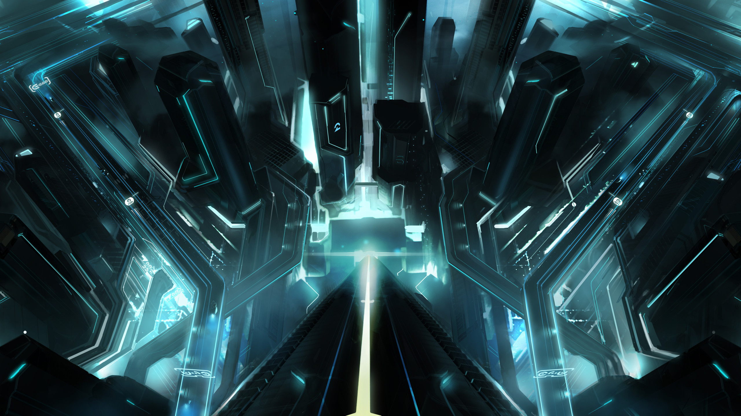 2560x1440 Tron City Wallpapers | HD Wallpapers