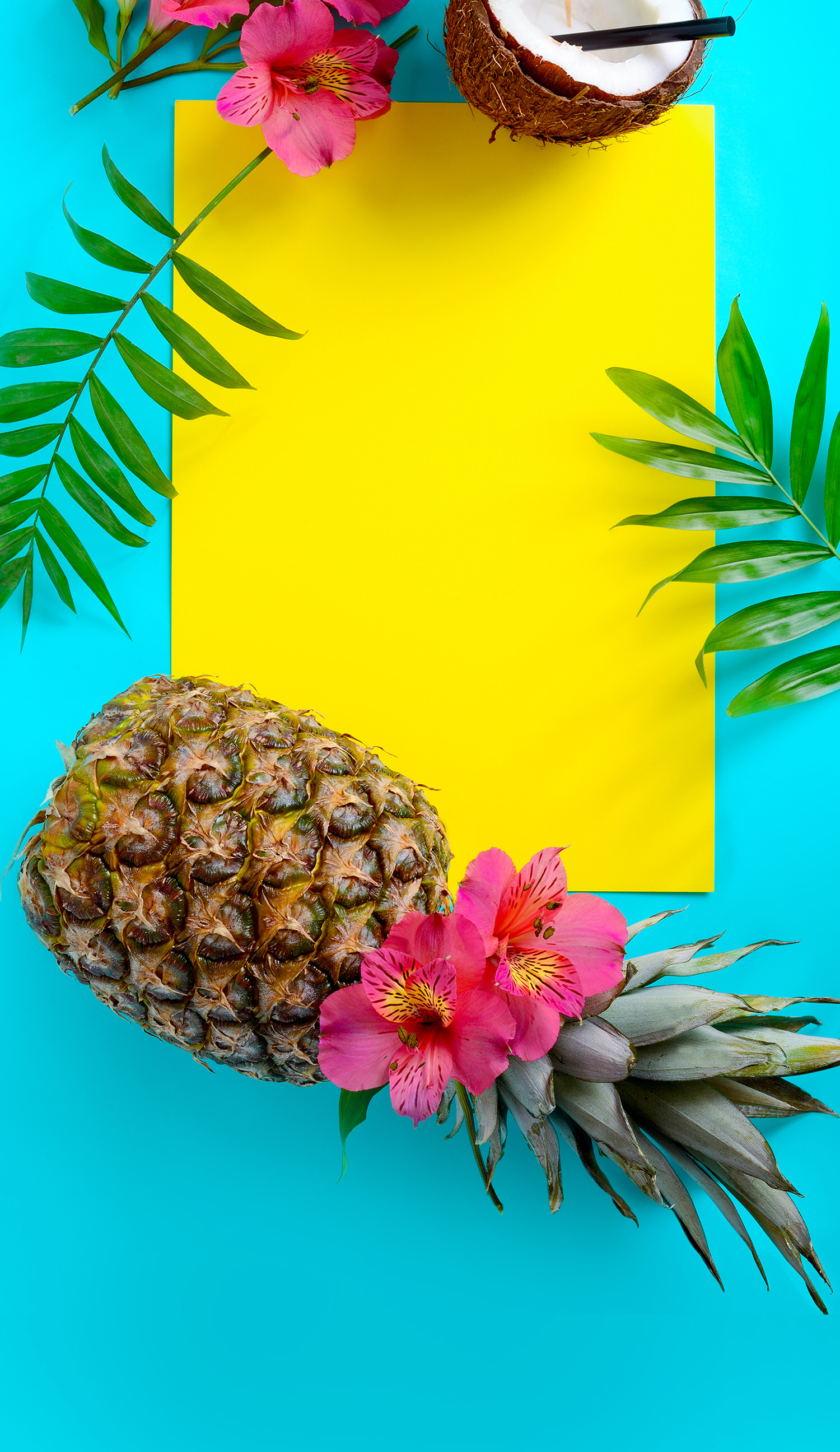 1500x2592 Summer Wallpaper Iphone Tropical Fruit Wallpapers Kawaii Beautiful
