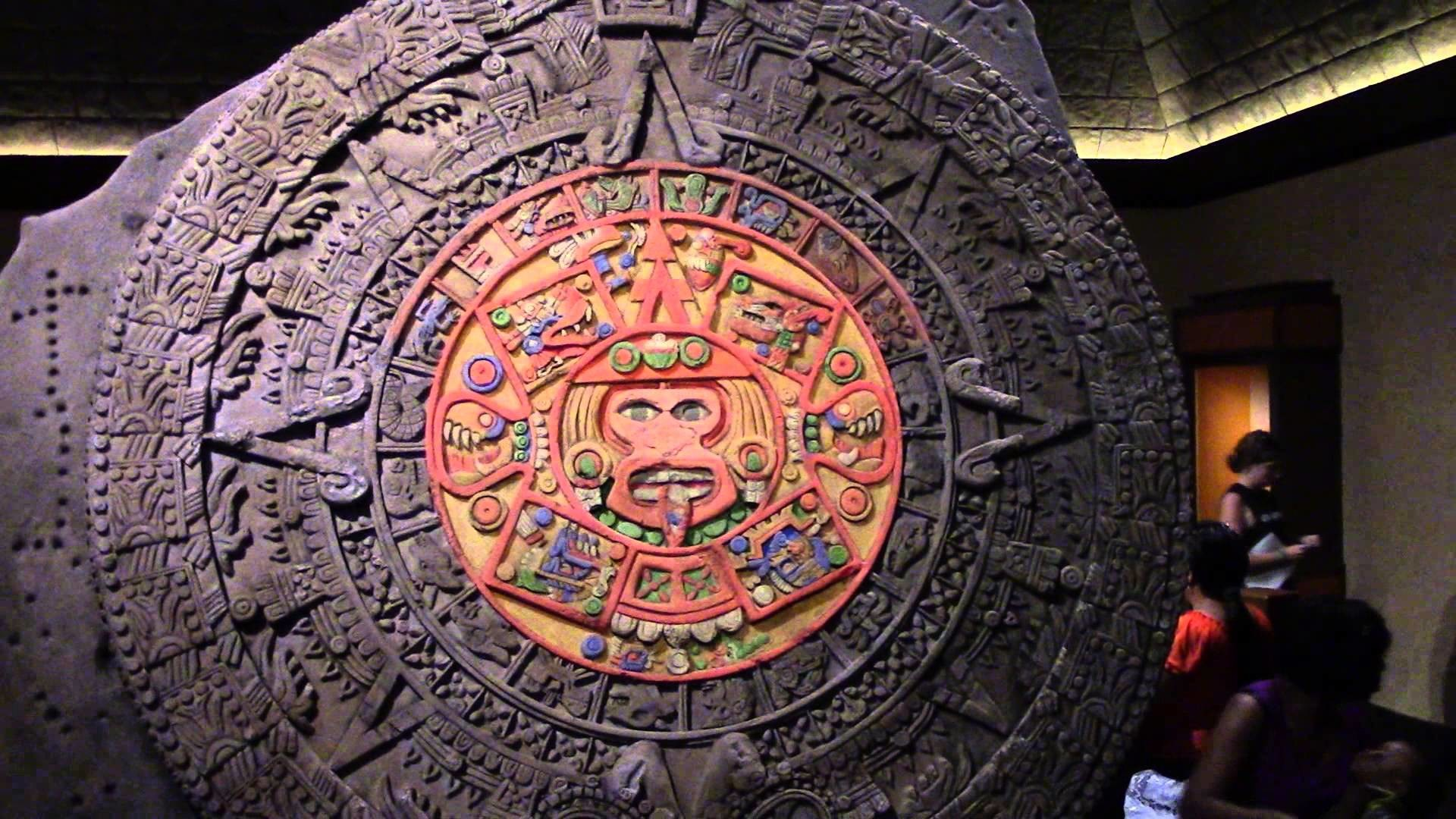 1920x1080 Awesome Slo-Mo Coloration of Aztec Calendar at Mexico Pavilion - EPCOT -  Walt Disney World
