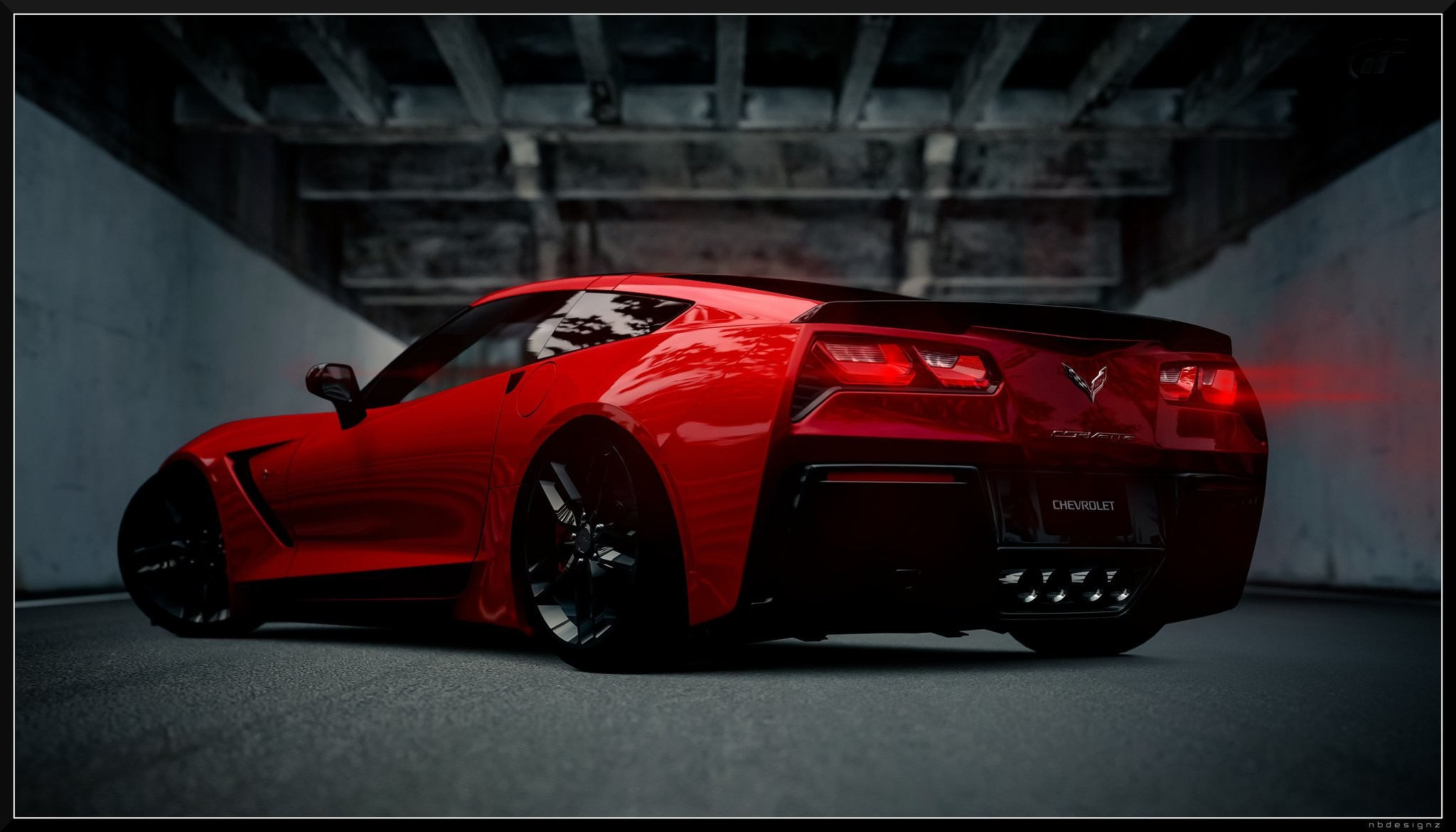 2048x1170 Images of Corvette Wallpaper Border - #SC ...