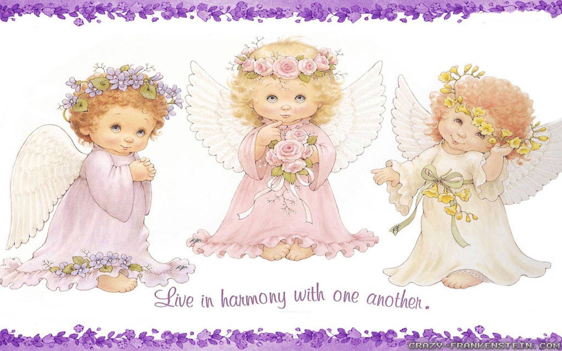 Ангелок для открытки с