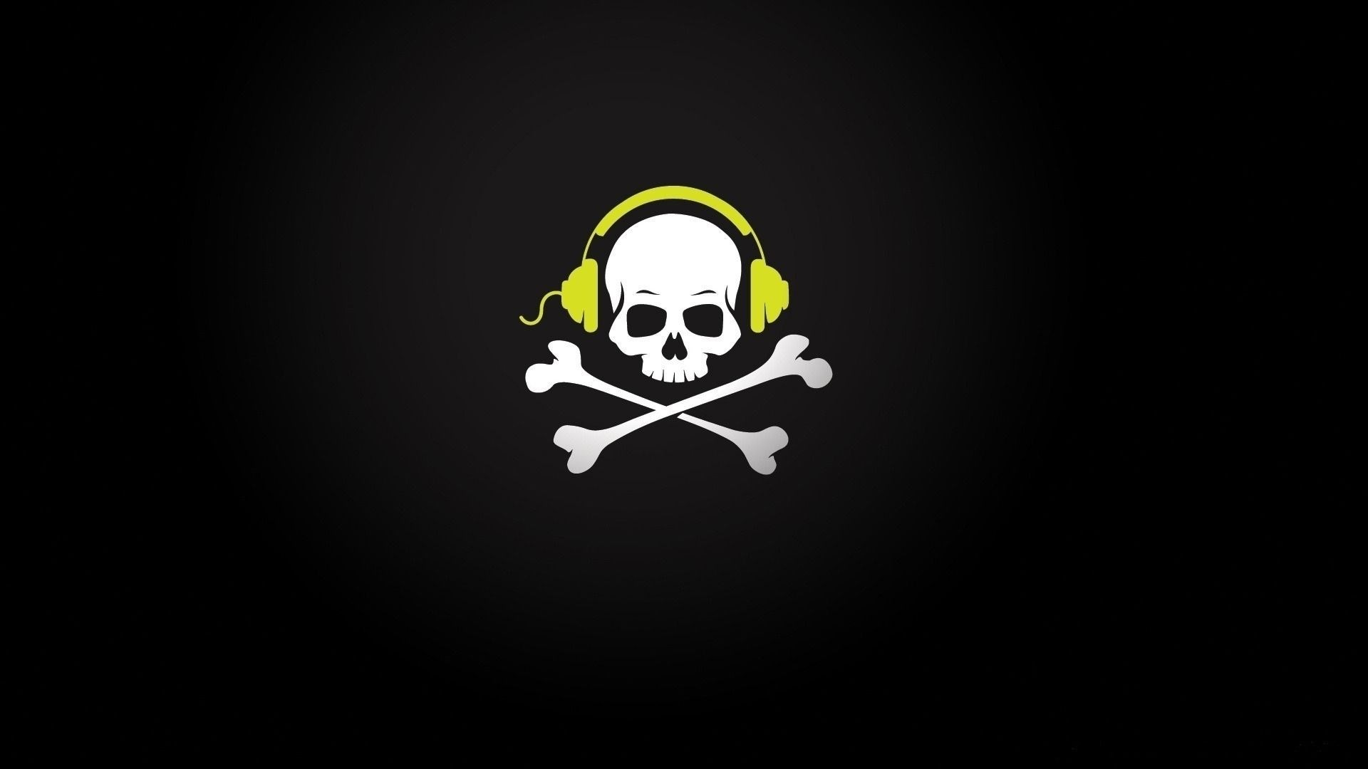 1920x1080 skull music wallpaper