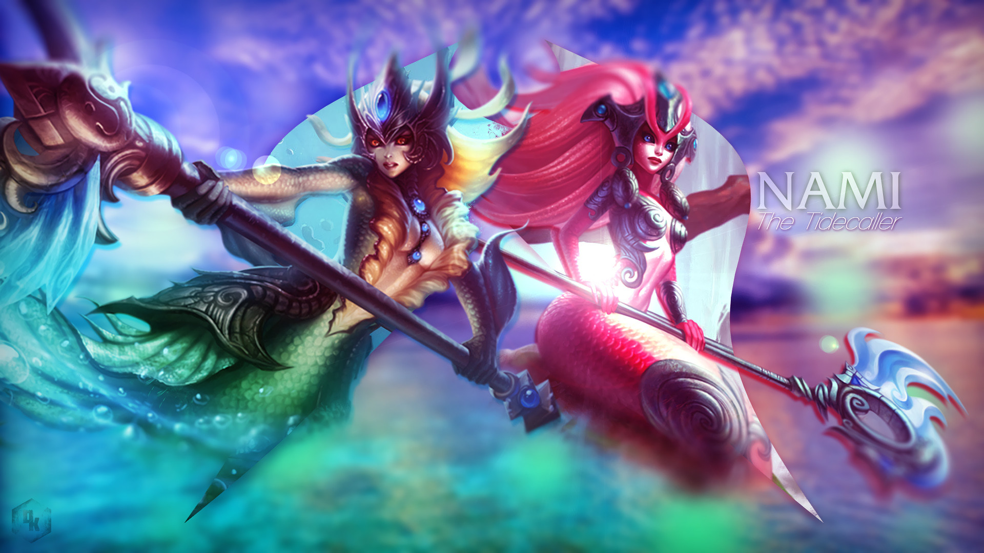 1920x1080 Nami & Koi Nami by WR-Dwyndle HD Wallpaper Fan Artwork League of Legends lol
