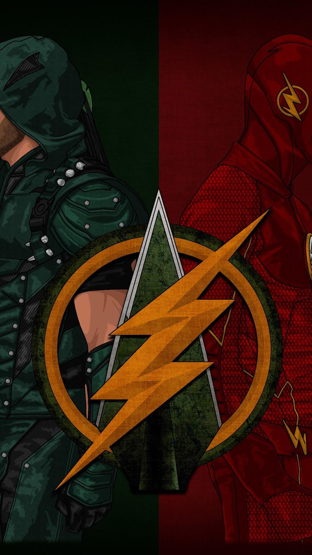 1080x1920 Off Topic[No Spoilers] A cool Flash/Arrow phone wallpaper I found ...