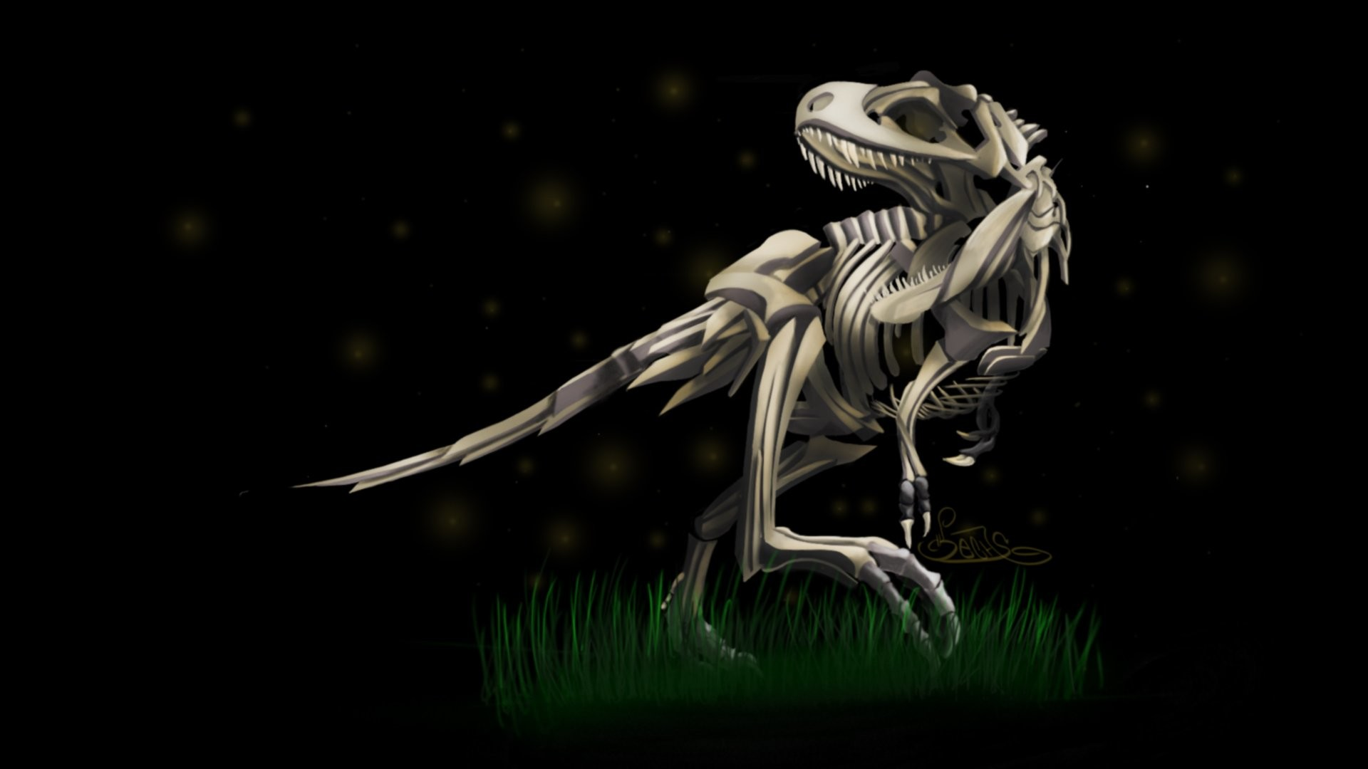 1920x1080 Dinosaurs Skeletons Tyrannosaurus Rex Wallpaper At Dark Wallpapers