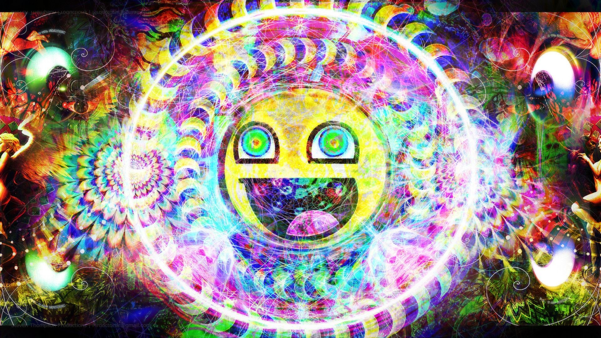 1920x1080 Trippy Psychedelic Awesome Smiley HD Wallpaper |  | ID:49066