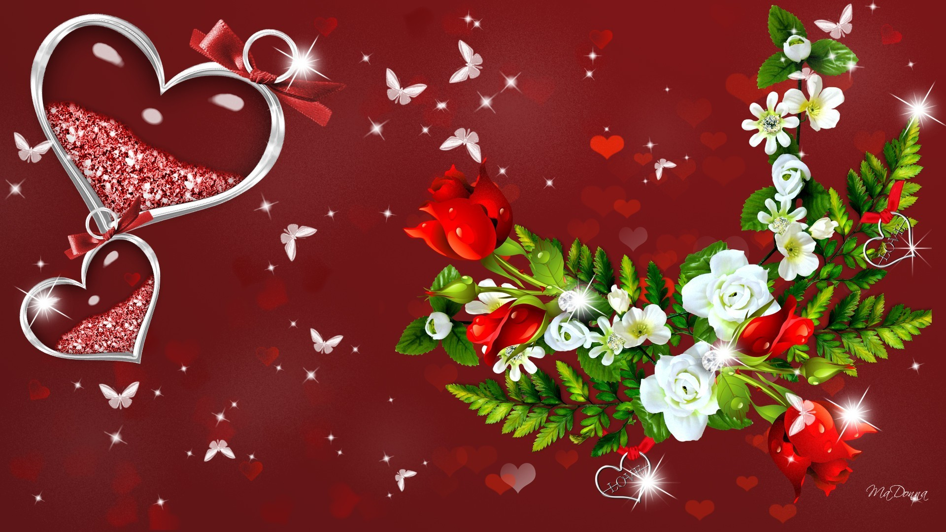 Stars and hearts wallpaper 35 images - Valentine s day flower wallpaper ...