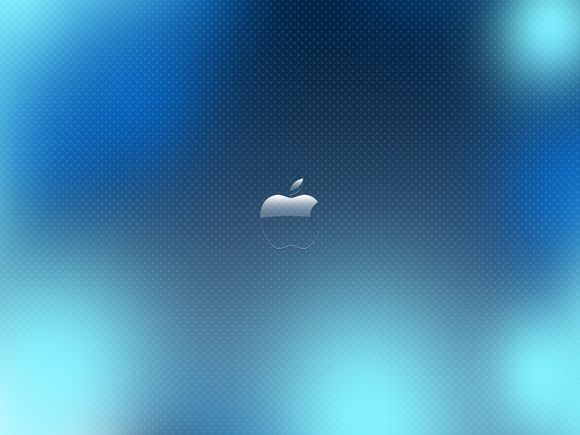 1920x1440 Blue Glass Apple