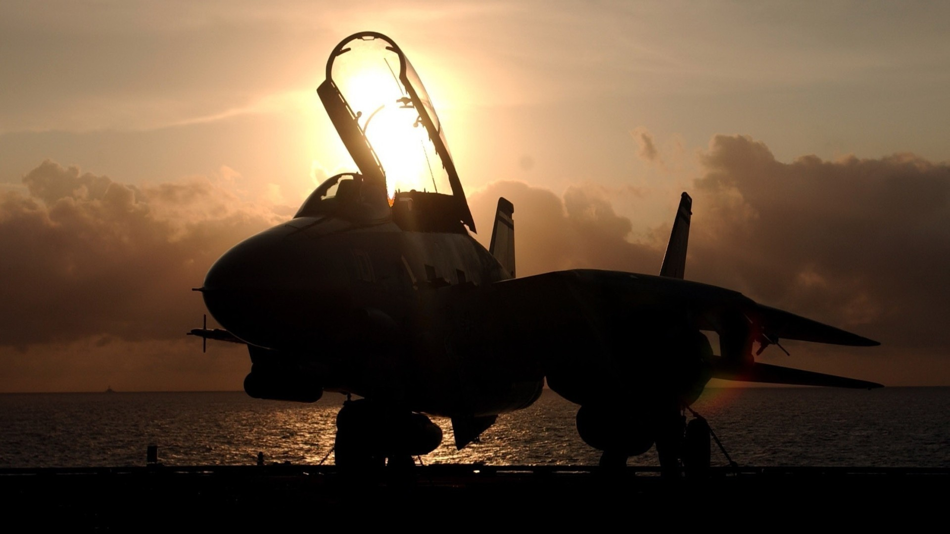 1920x1080 F14 tomcat aircraft carriers fighter jets military wallpaper