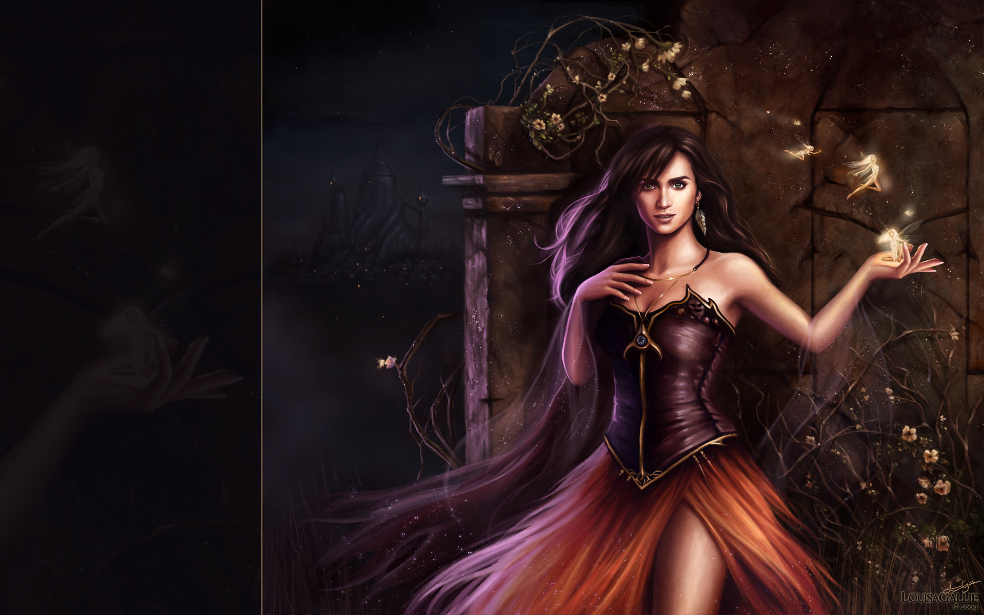 1920x1200 A girl from a fairy tale wallpapers and images ... Sexy Fairy Fantasy Art
