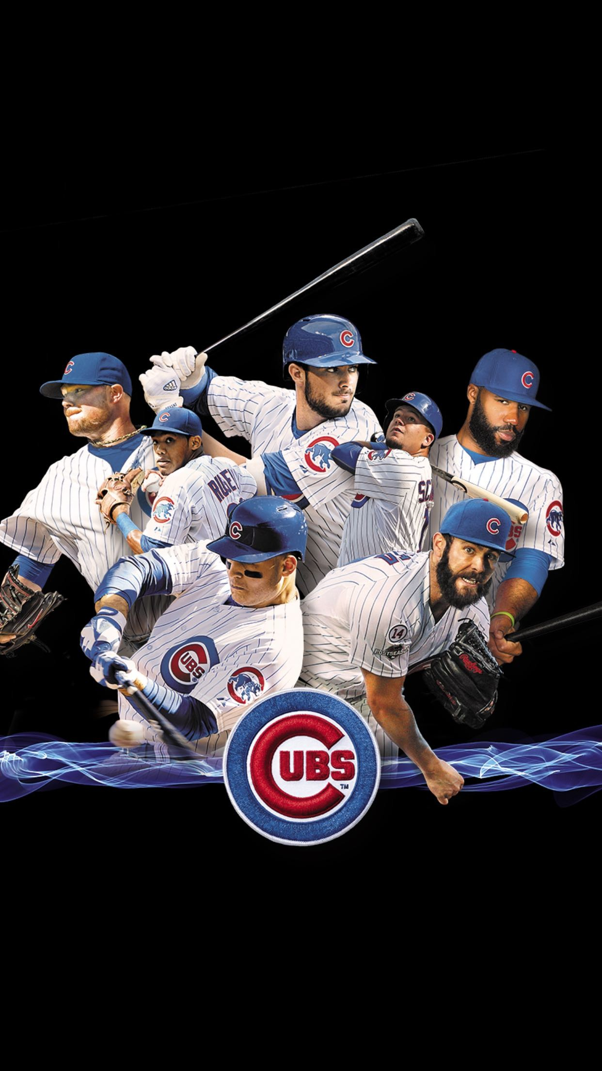 1242x2208 2016 Cubs on black, ...