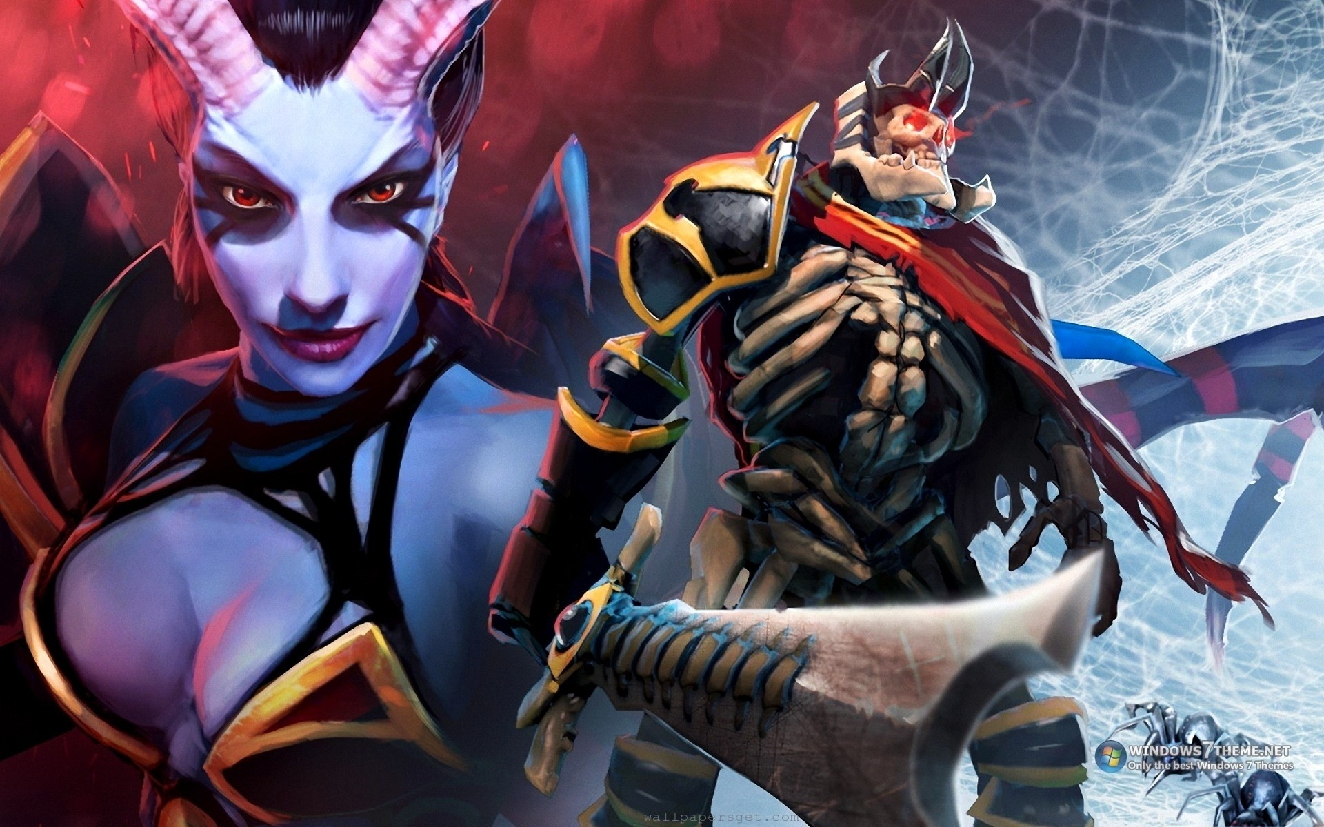 1920x1200 succubus dota 2 skeleton king queen of pain game akasha Wallpaper HD