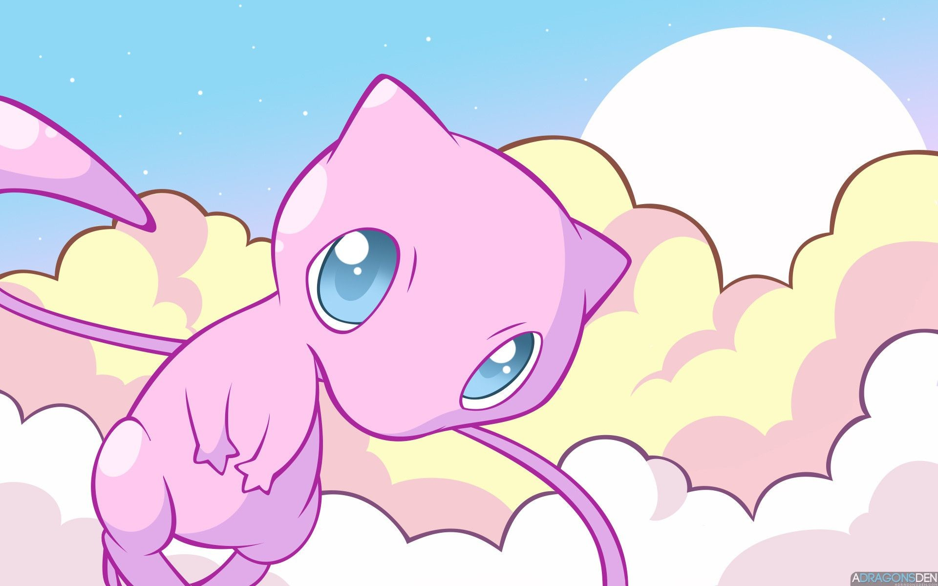 1920x1200 Mew the Pokemon images Mew in the Clouds HD wallpaper and background photos