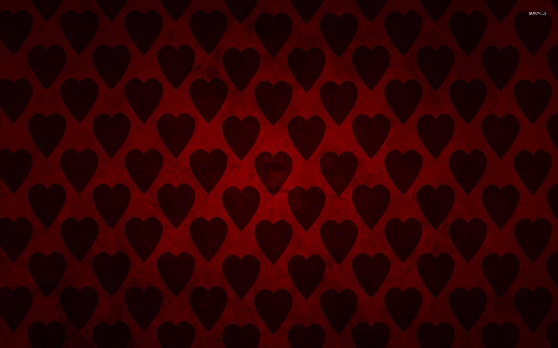 1920x1200 Red hearts wallpaper