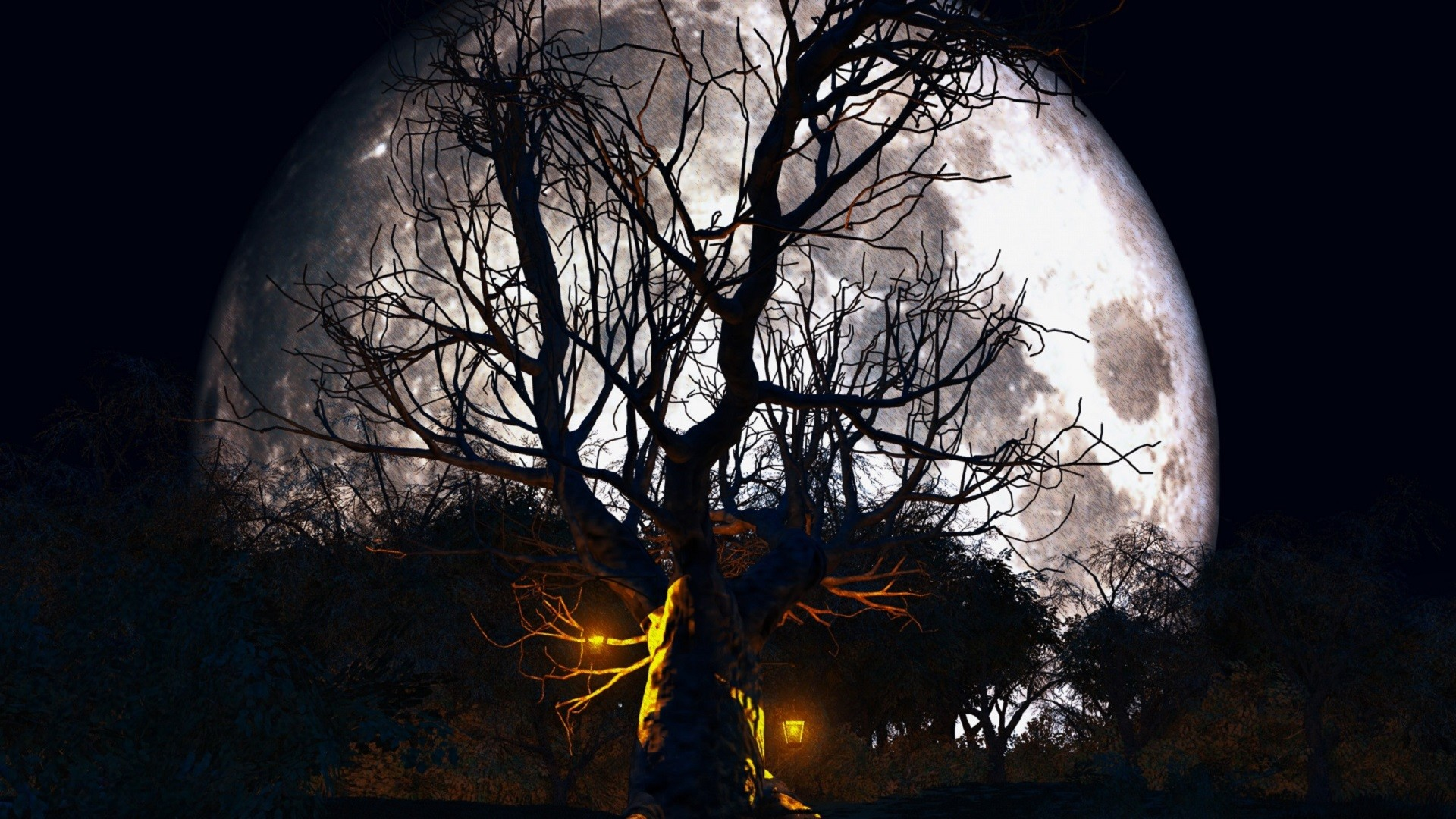 1920x1080 Halloween Full Moon HD Wide Wallpaper for Widescreen (54 Wallpapers) – HD  Wallpapers