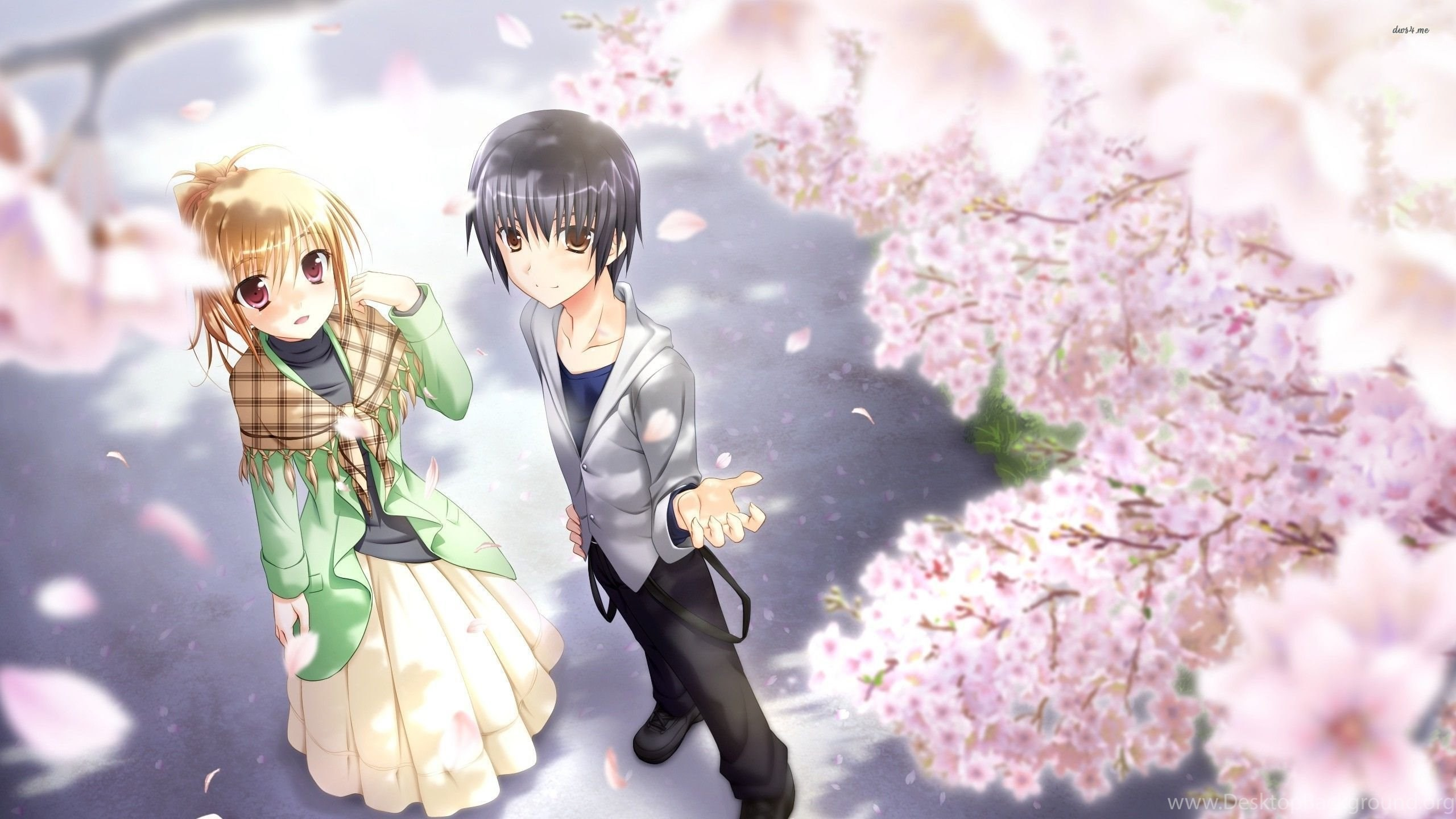 Anime Images Wallpaper Love Couples Couple Hd Wallpaper: Anime Couple Wallpaper (74+ Images