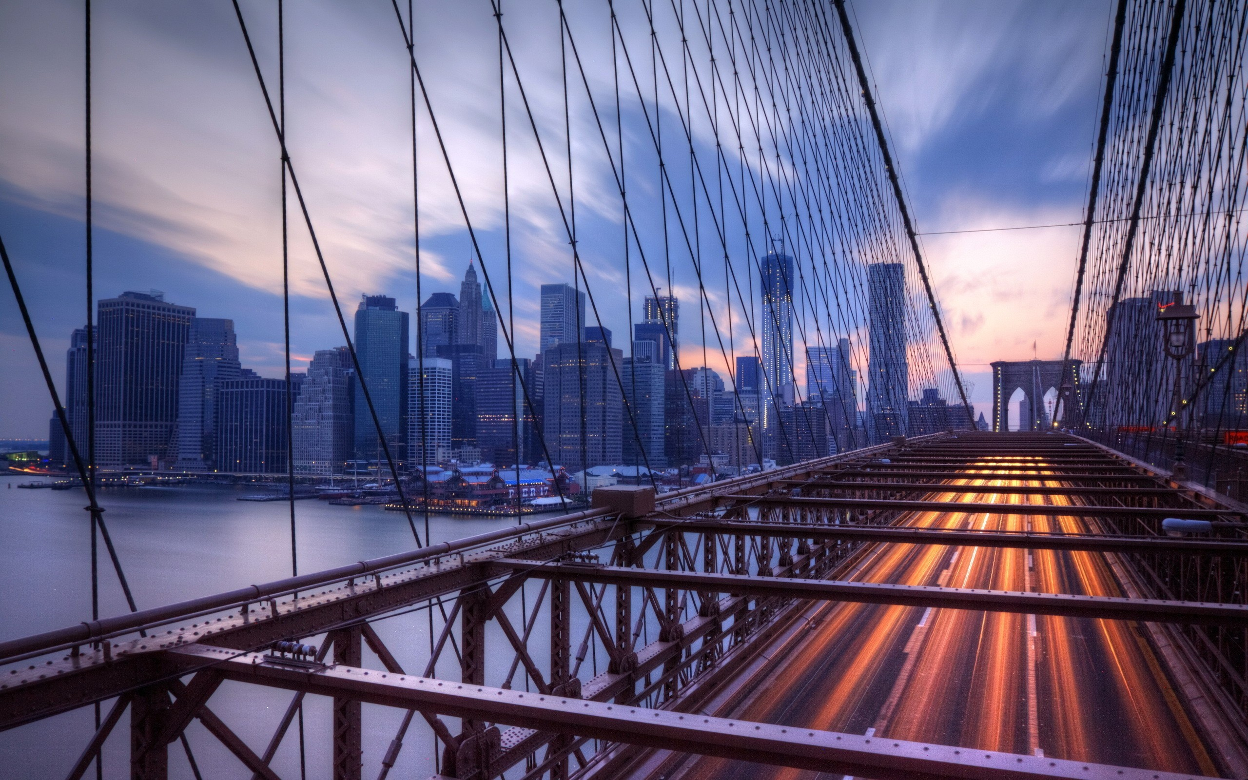 2560x1600 cityscape, City, Building, Bridge, New York City, Brooklyn Bridge Wallpapers  HD / Desktop and Mobile Backgrounds