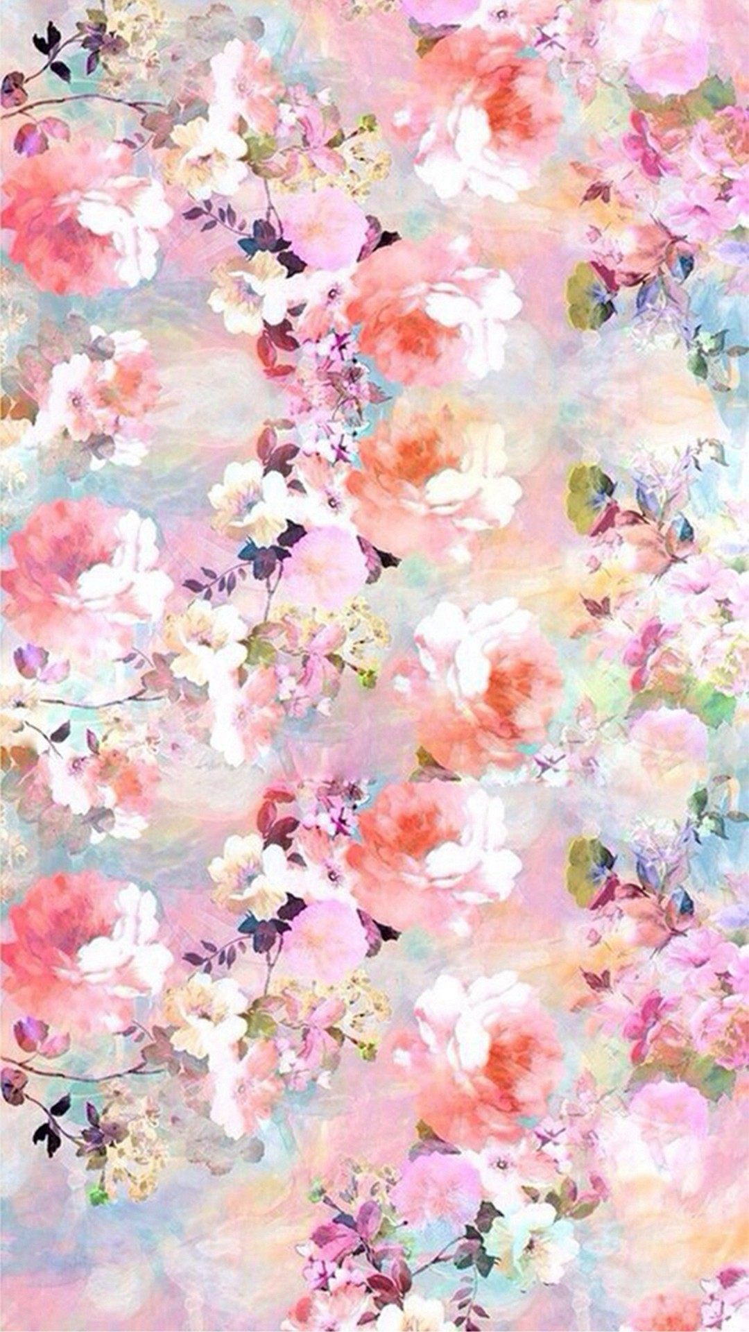 Watercolor flowers wallpaper 51 images - Flower wallpaper iphone 8 plus ...