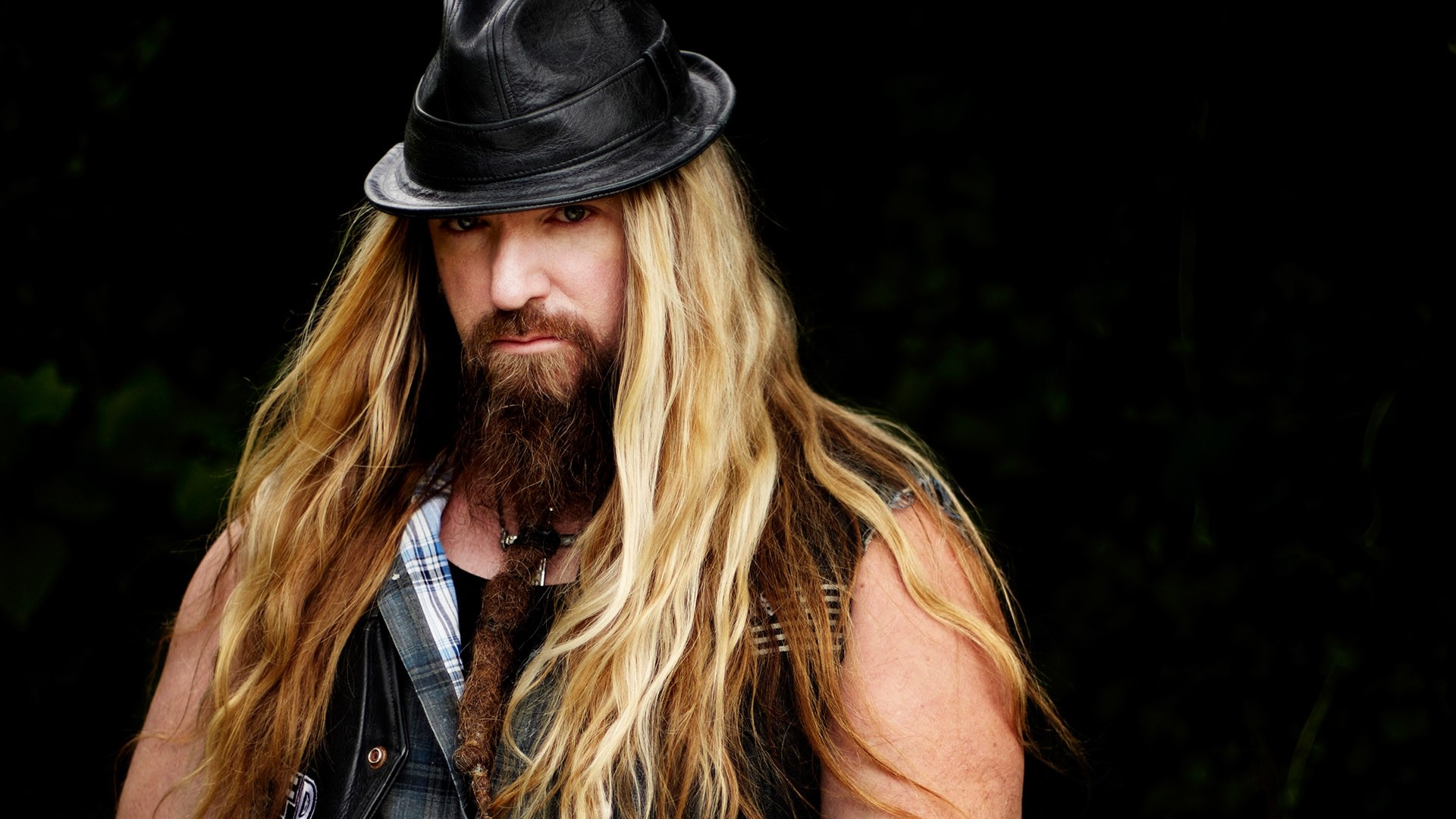 1920x1080  Wallpaper zakk wylde, hair, beard, hat, shoulders