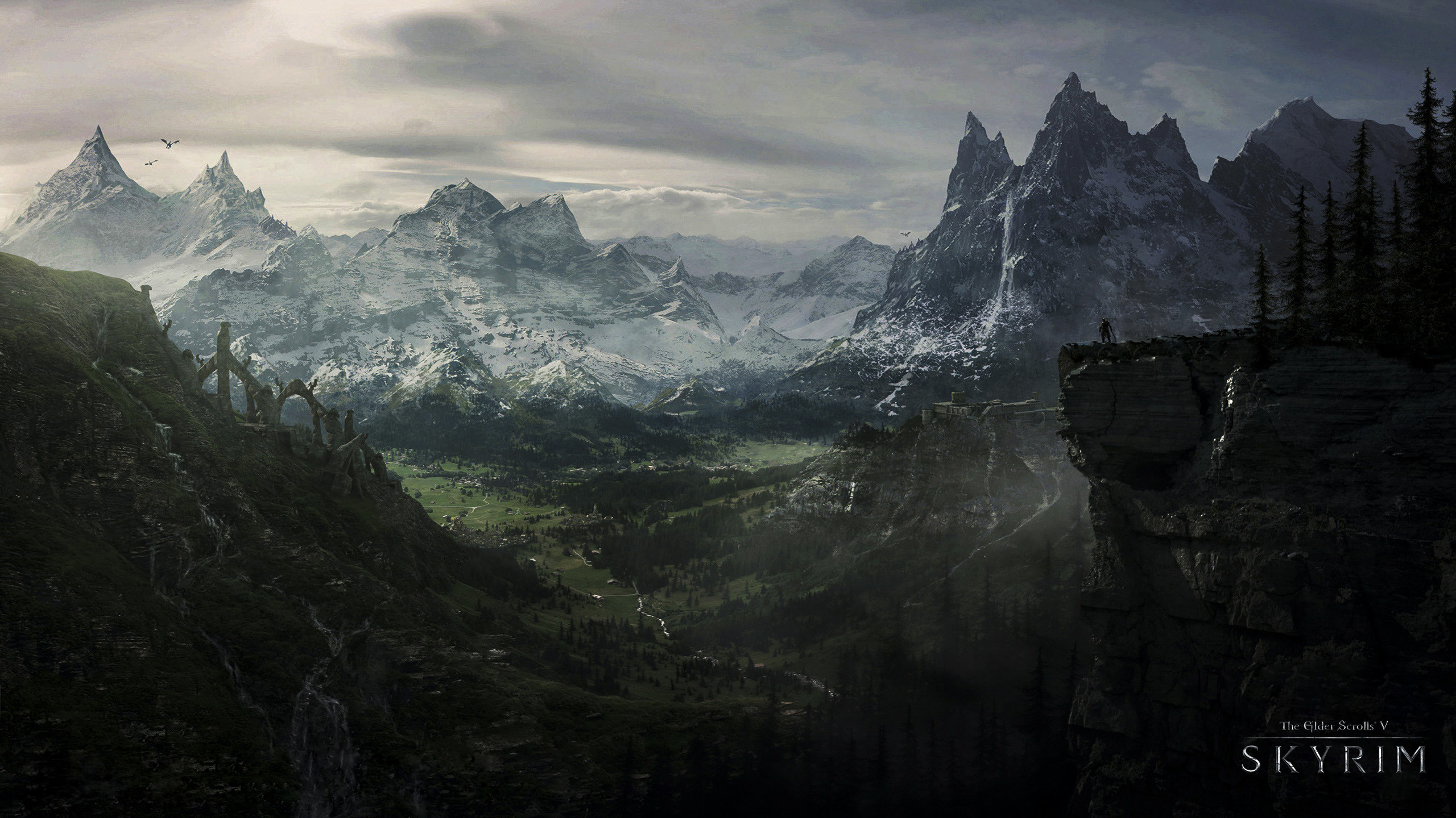 2560x1440 The Elder Scrolls V Skyrim HD Wallpapers Backgrounds | HD Wallpapers |  Pinterest | Skyrim, Wallpaper and Wallpaper backgrounds