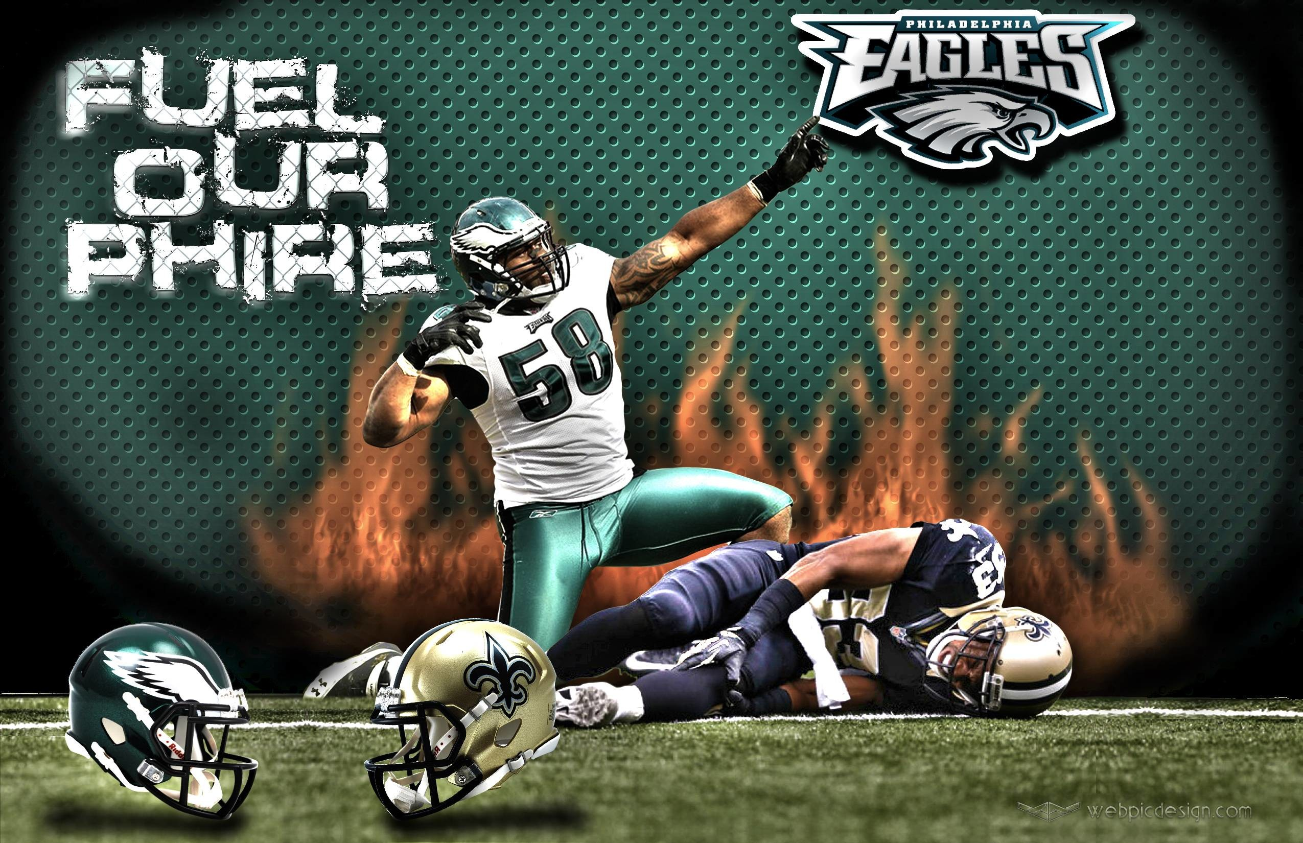 2550x1650 Philadelphia Eagles New Orleans Saints Wallpaper Webpic Design Inc ..