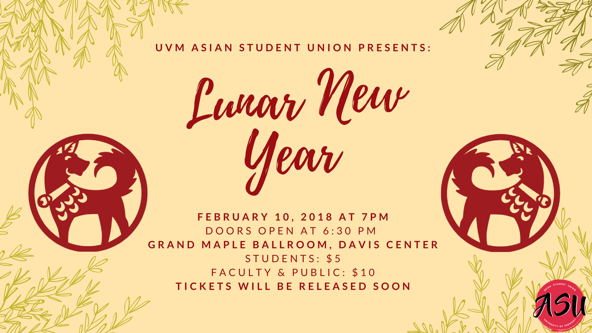 1920x1080 Celebrate and welcome in the year of the dog with the UVM Asian Student  Union! Come join in the festivities, good food, and entertainment from UVM  Jazbaa, ...