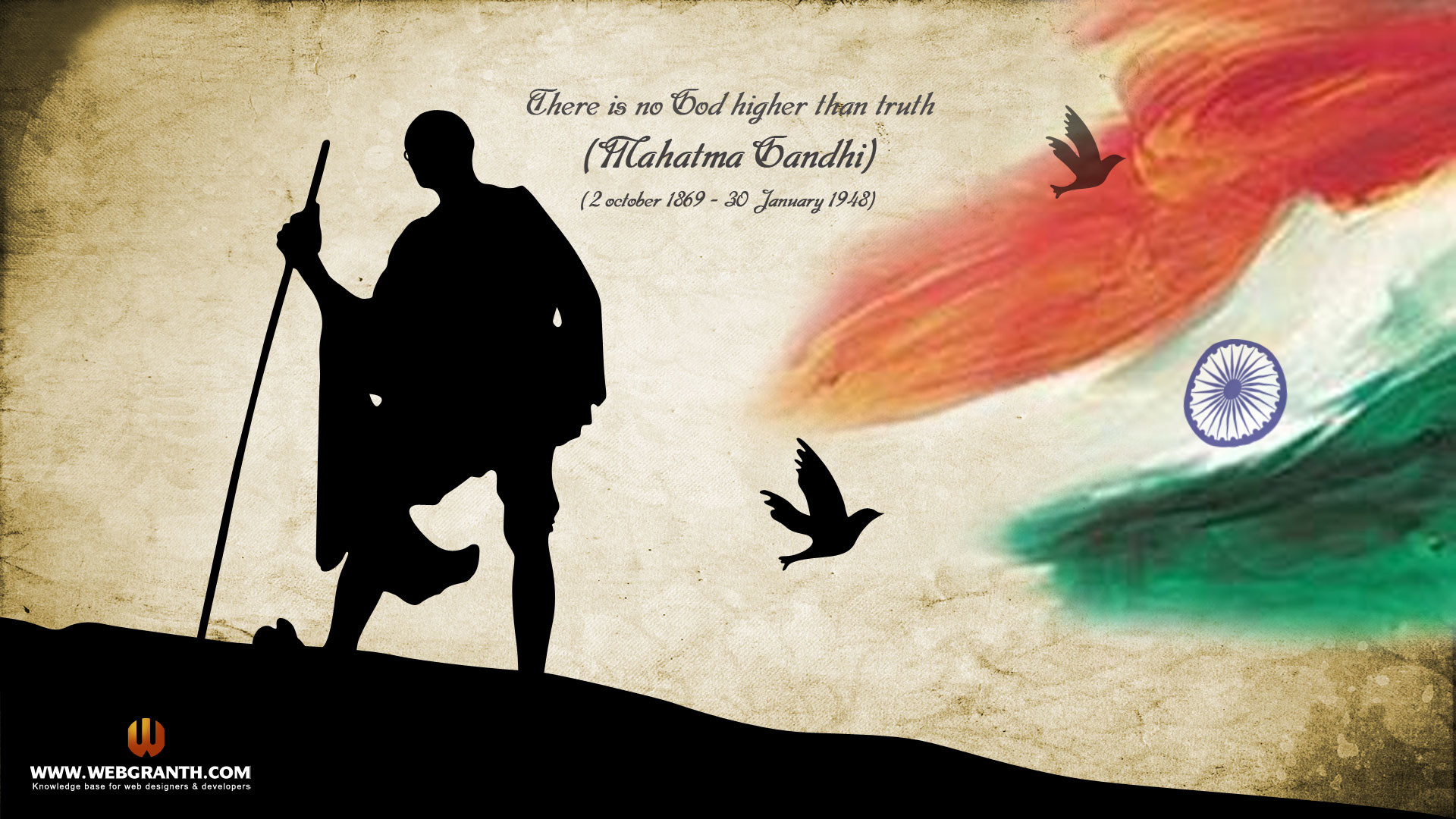 1920x1080 Mahatma Gandhi Independence Day Wallpaper. 15 August Wallpaper 2013