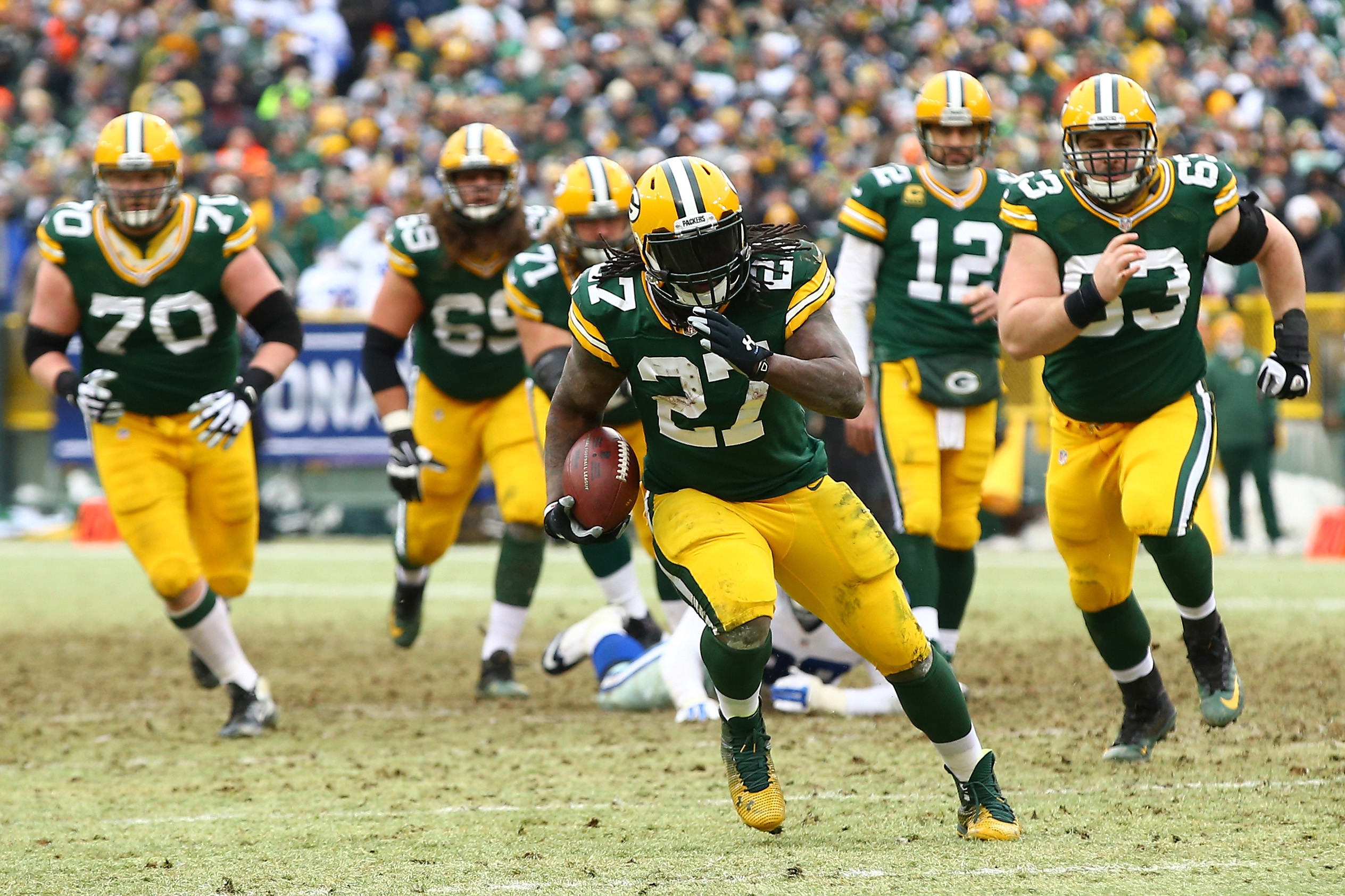 2528x1685 Packers inactives: Eddie Lacy and Davante Adams to play